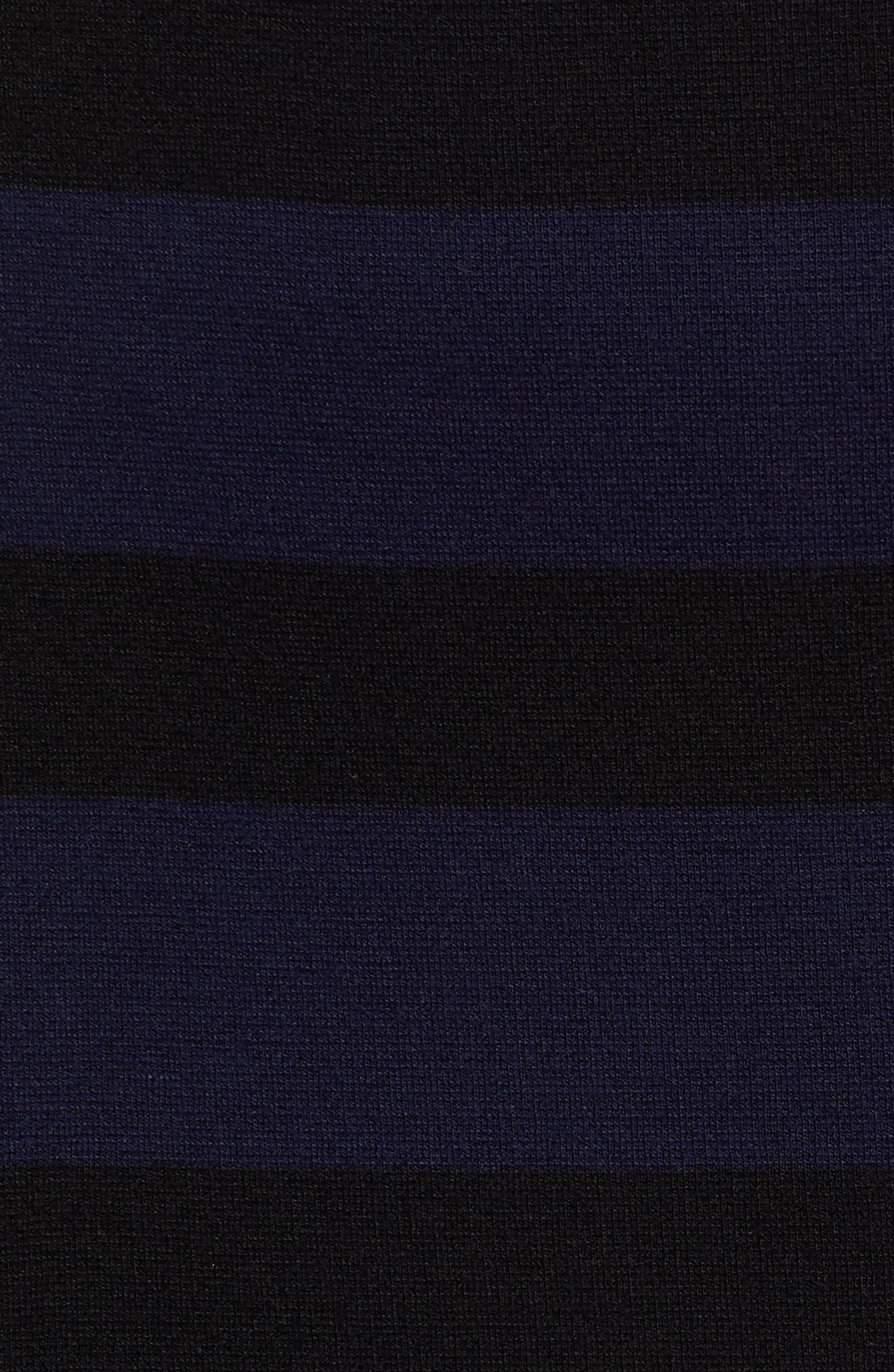 Ebienne Stripe Pencil Skirt,                             Alternate thumbnail 6, color,                             Nautical Blue Fantasy