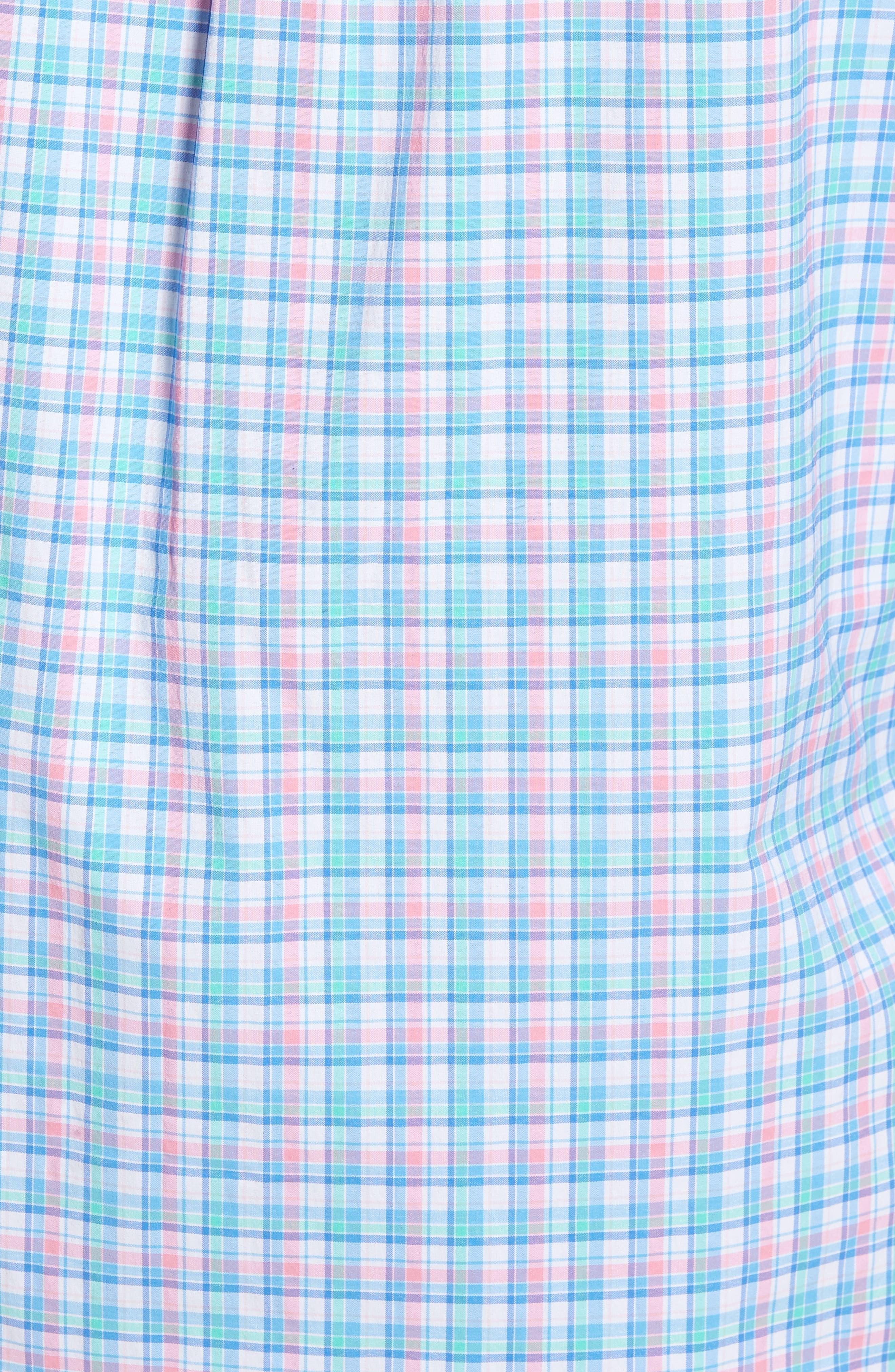 Tiki Bar Plaid Classic Fit Sport Shirt,                             Alternate thumbnail 5, color,                             Pink