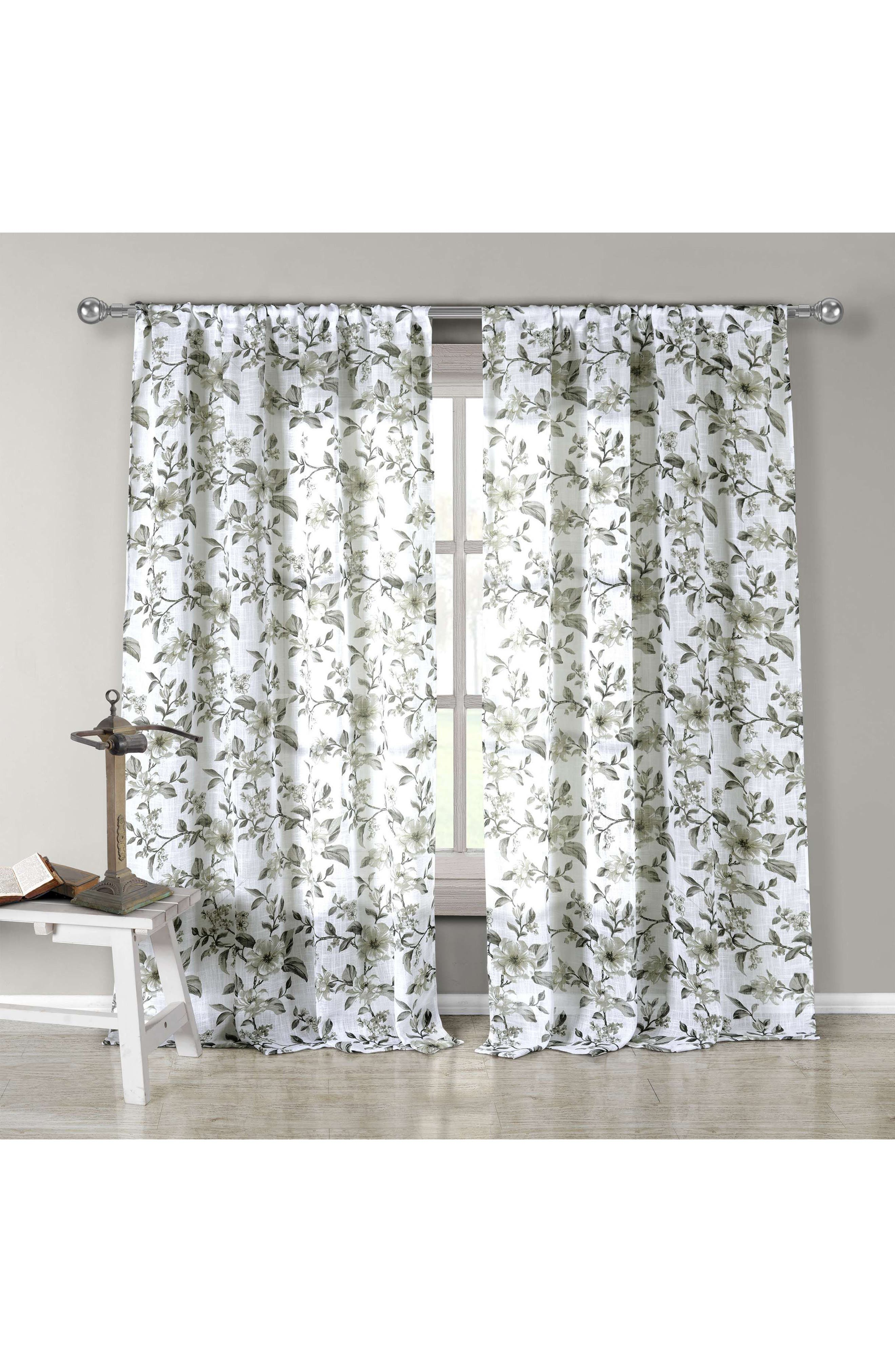 Lylia Set of 2 Window Panels,                         Main,                         color, Grey-Olive