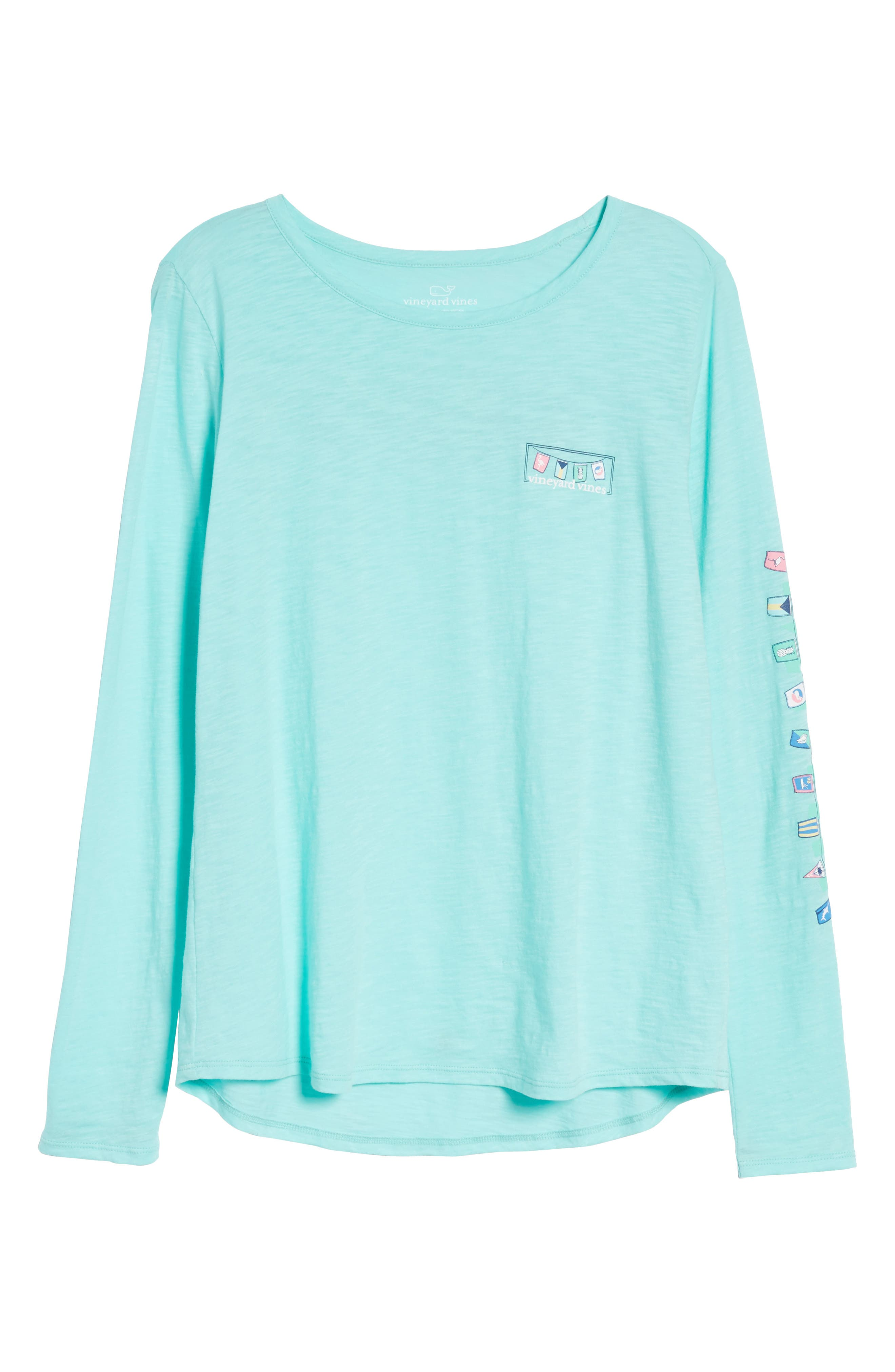 Rafter Long Sleeve Cotton Tee,                             Alternate thumbnail 7, color,                             Caicos