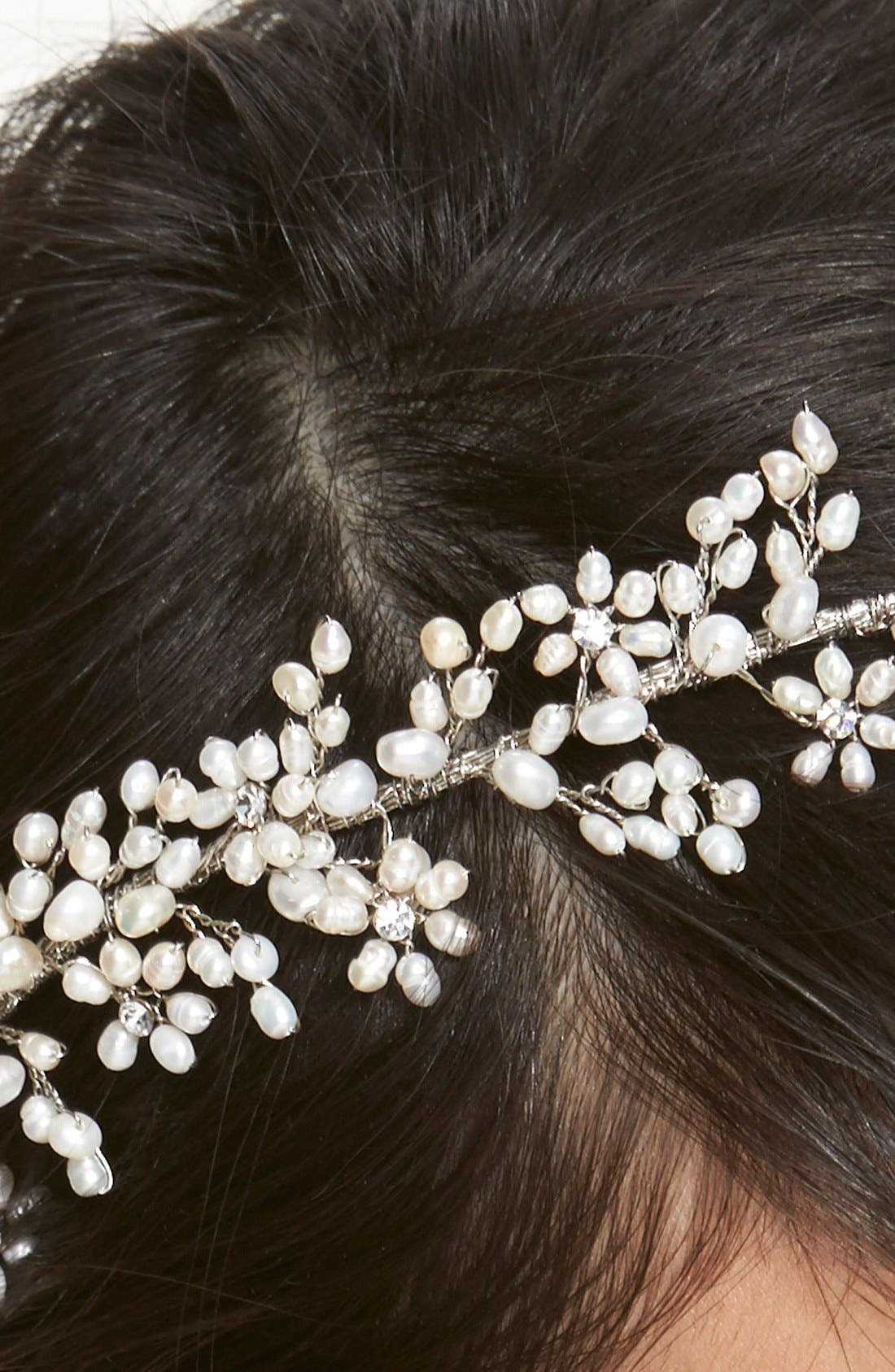 Alternate Image 2  - twigs & honey 'Baby's Breath' Freshwater Pearl & Swarovski Crystal Headband
