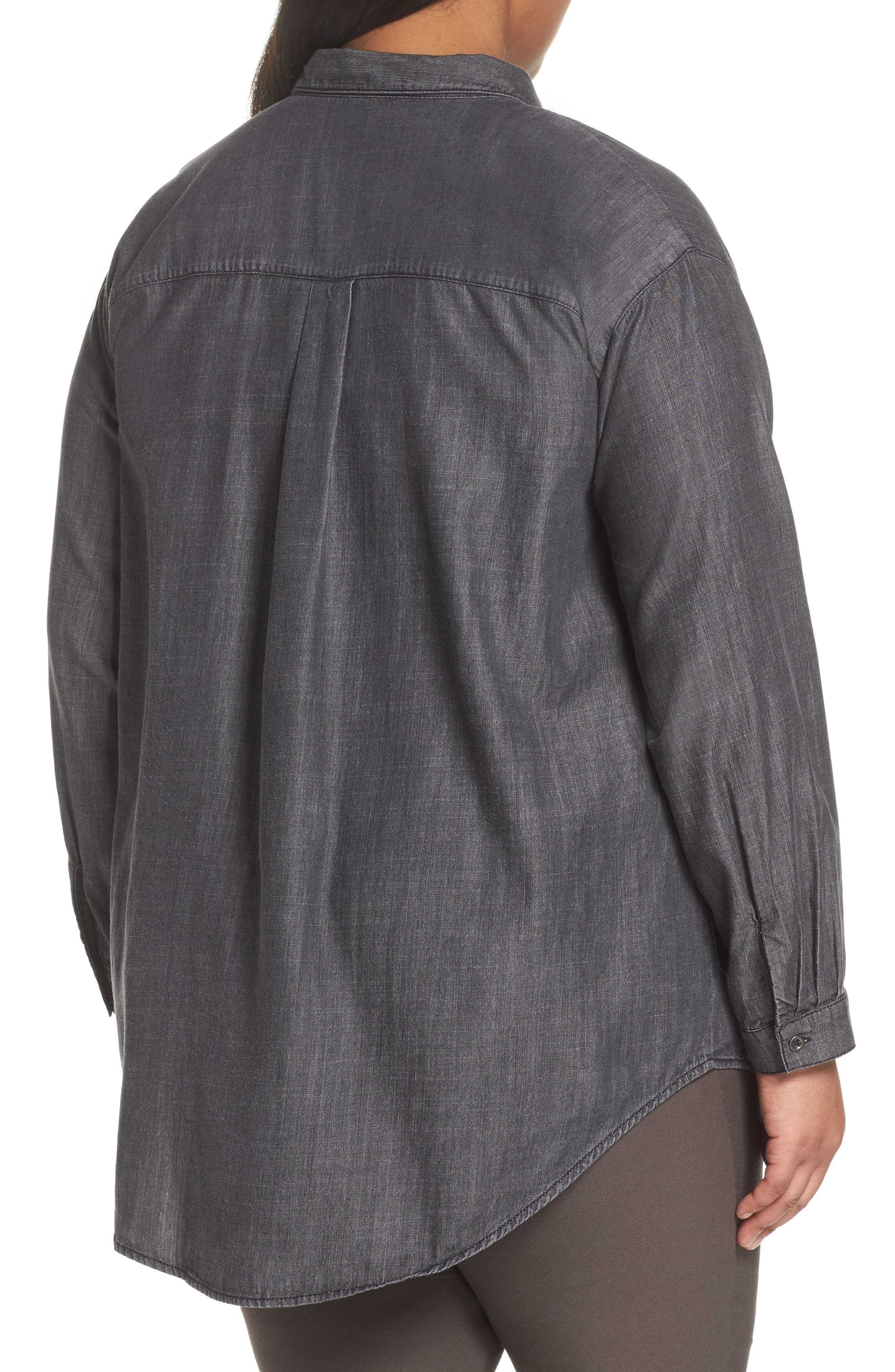 Classic Collar Shirt,                             Alternate thumbnail 2, color,                             Black