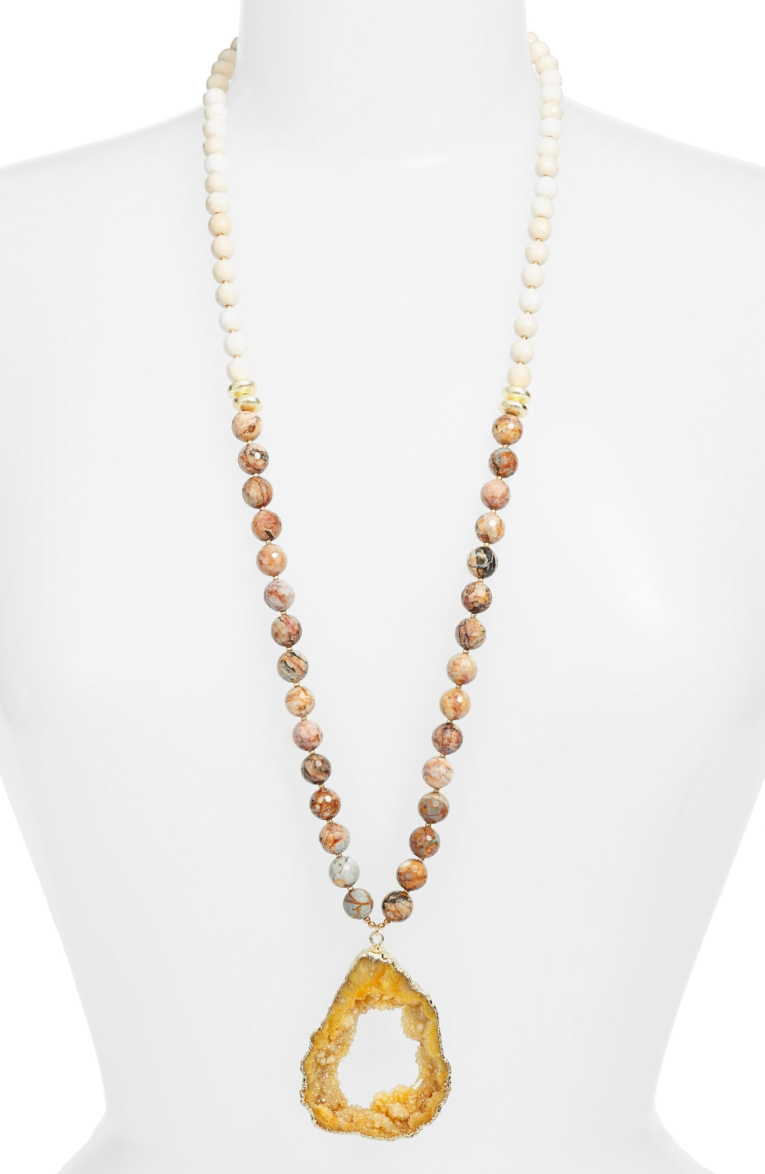 Love's Affect Cameron Semiprecious Stone Pendant Necklace