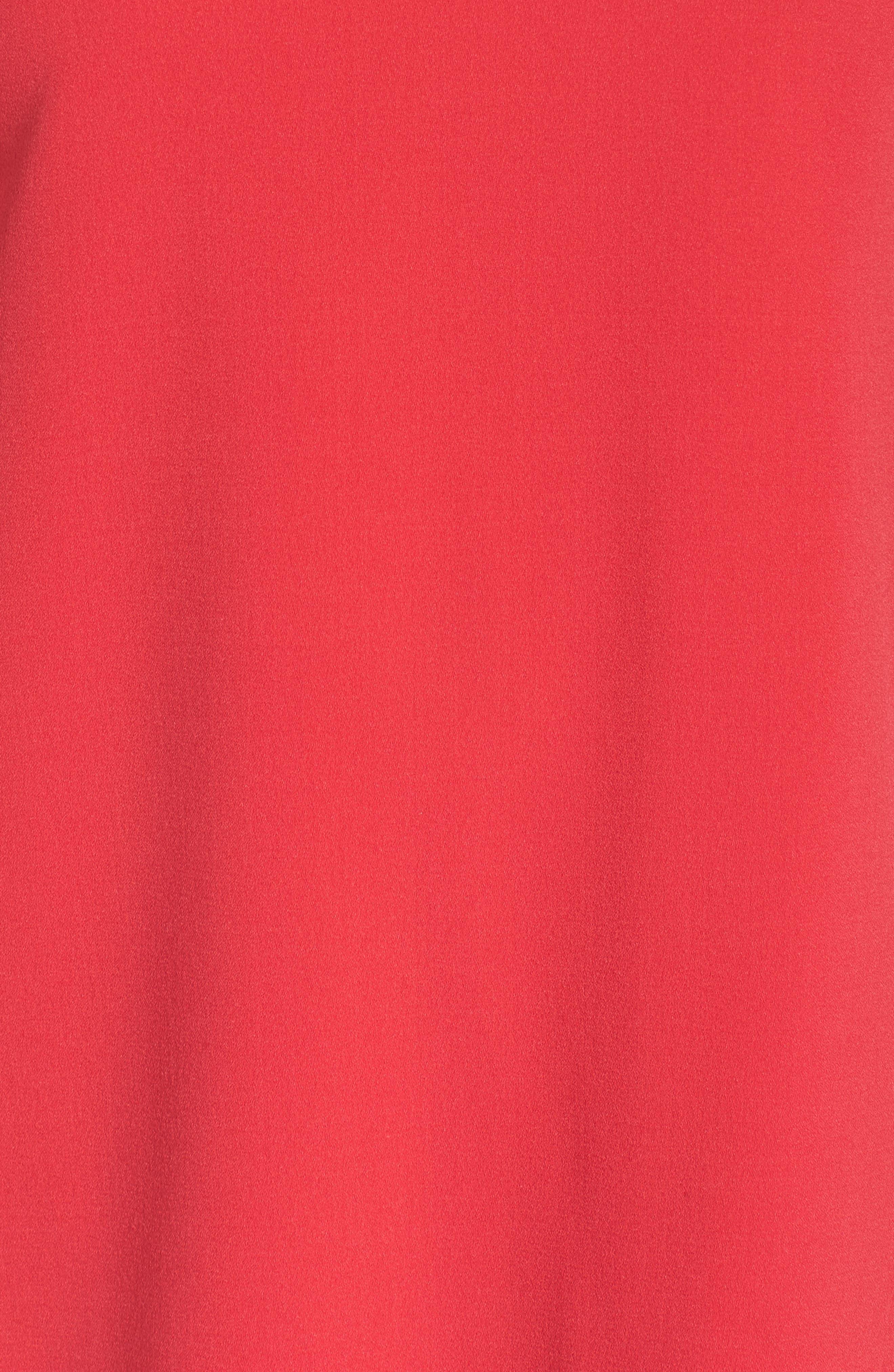 Bell Sleeve Crepe Shift Dress,                             Alternate thumbnail 6, color,                             Pink