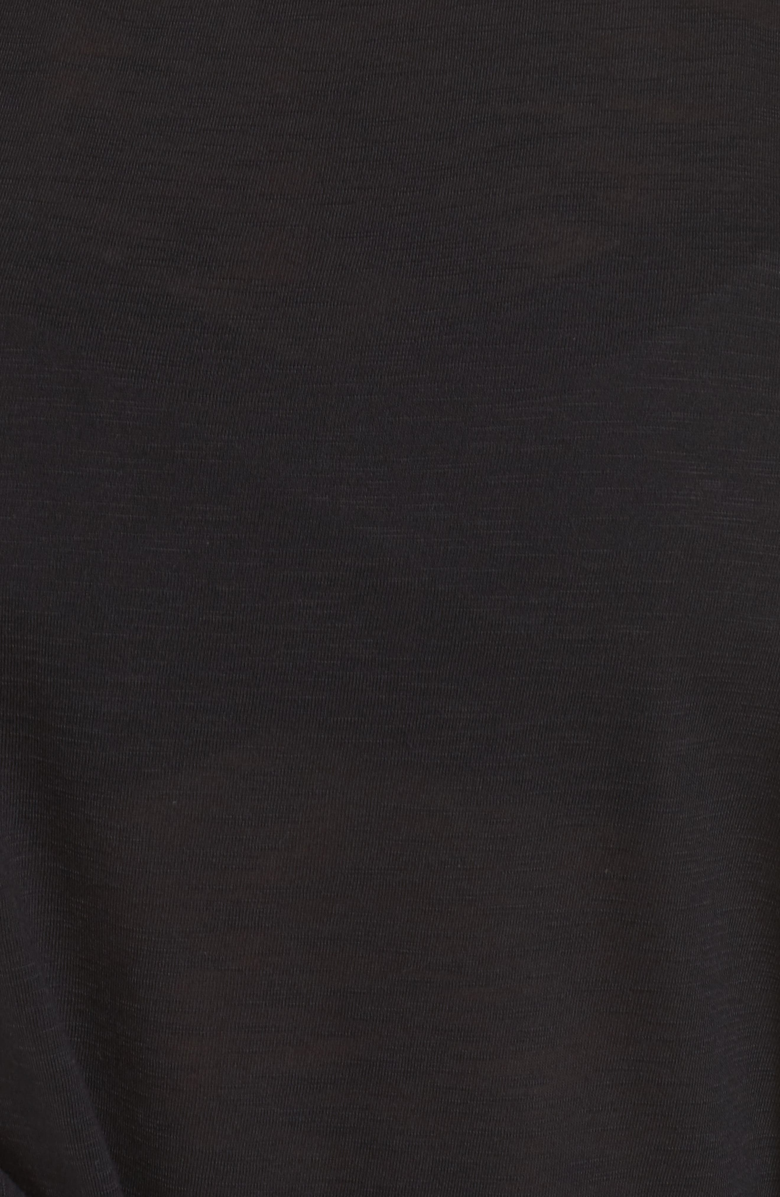 Breezy Basic Cover-Up Dress,                             Alternate thumbnail 5, color,                             Black