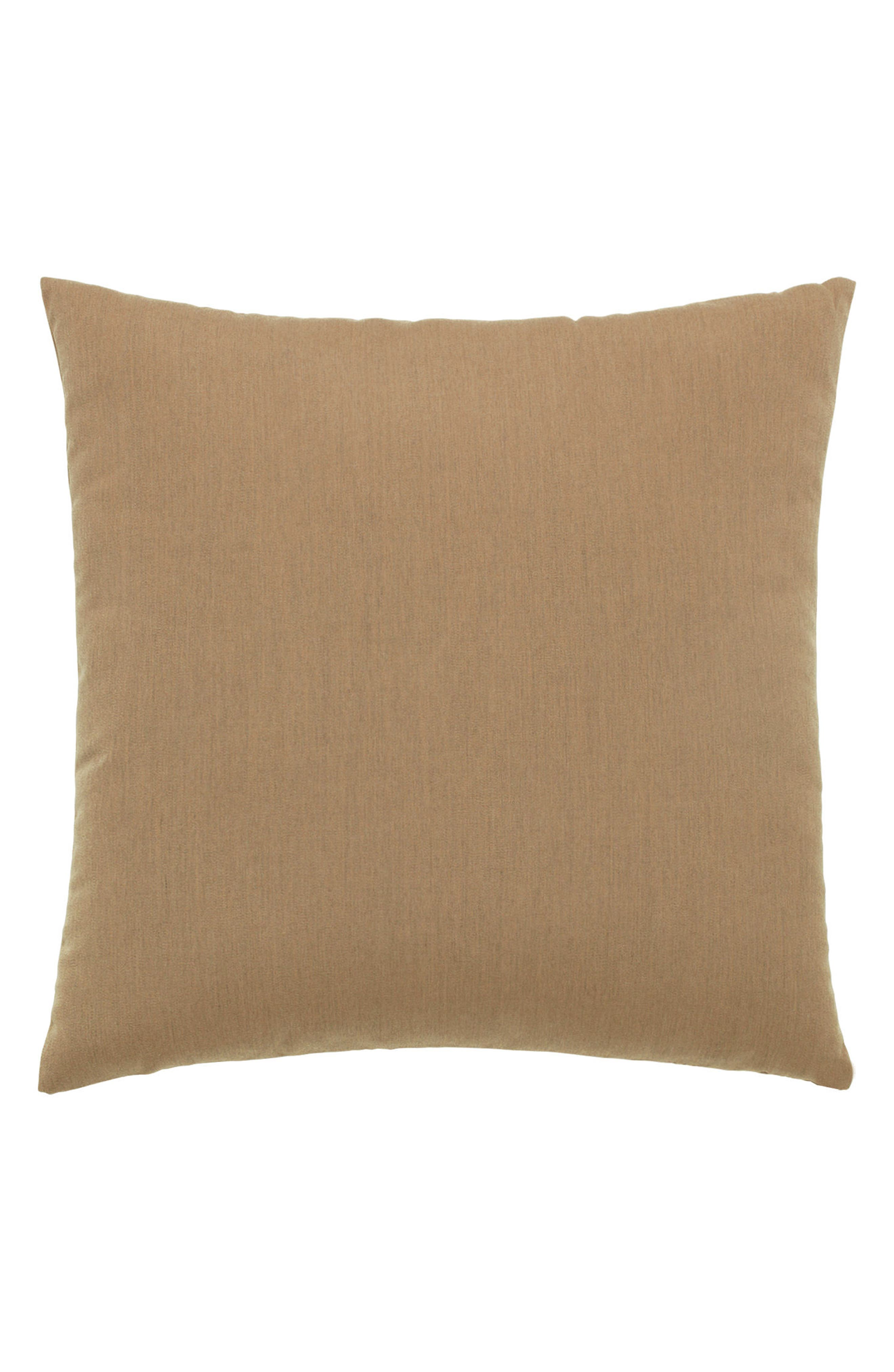 Smoke Basket Weave Indoor/Outdoor Accent Pillow,                             Alternate thumbnail 3, color,                             Brown/ Grey