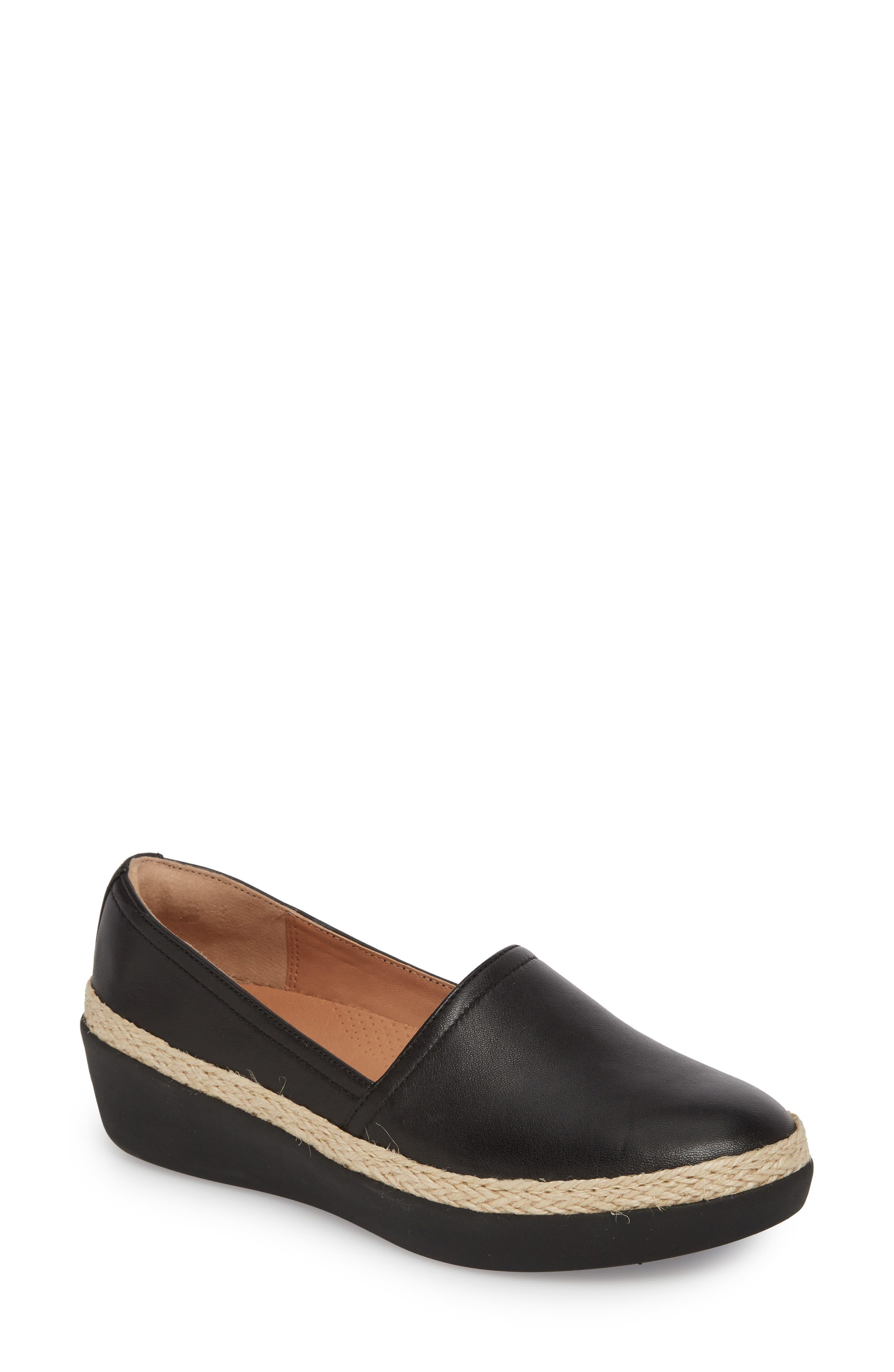 Casa Loafer,                         Main,                         color, Black Leather