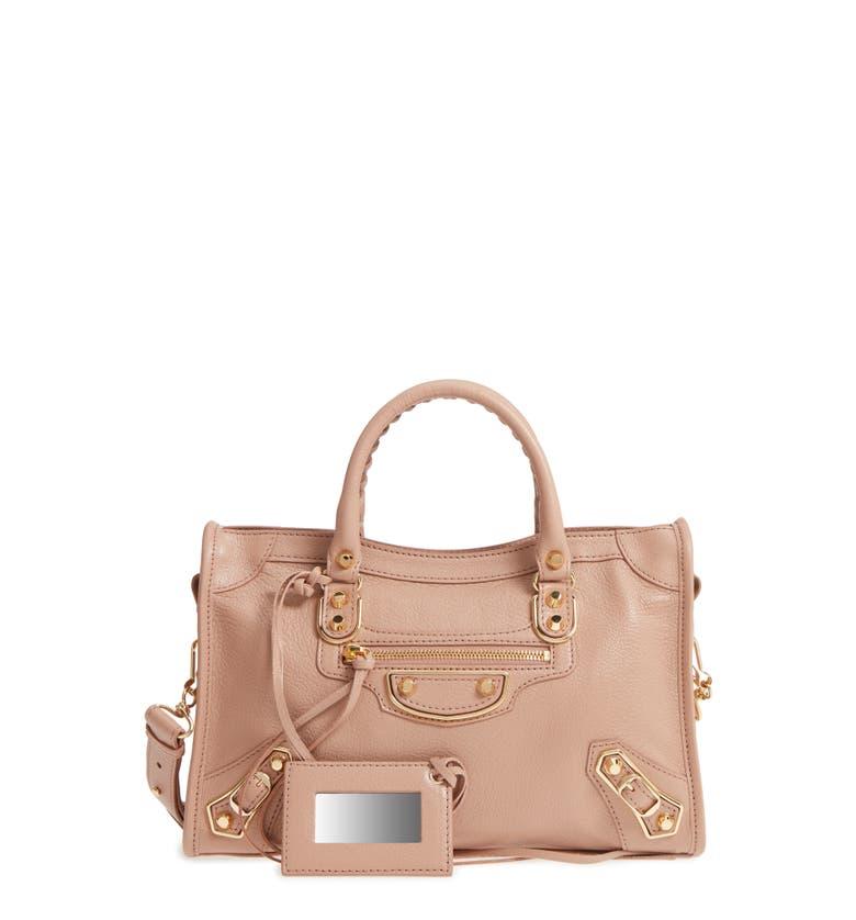 df6f6c7937 Balenciaga Metallic Edge City Goatskin Leather Tote - Pink In Rose ...