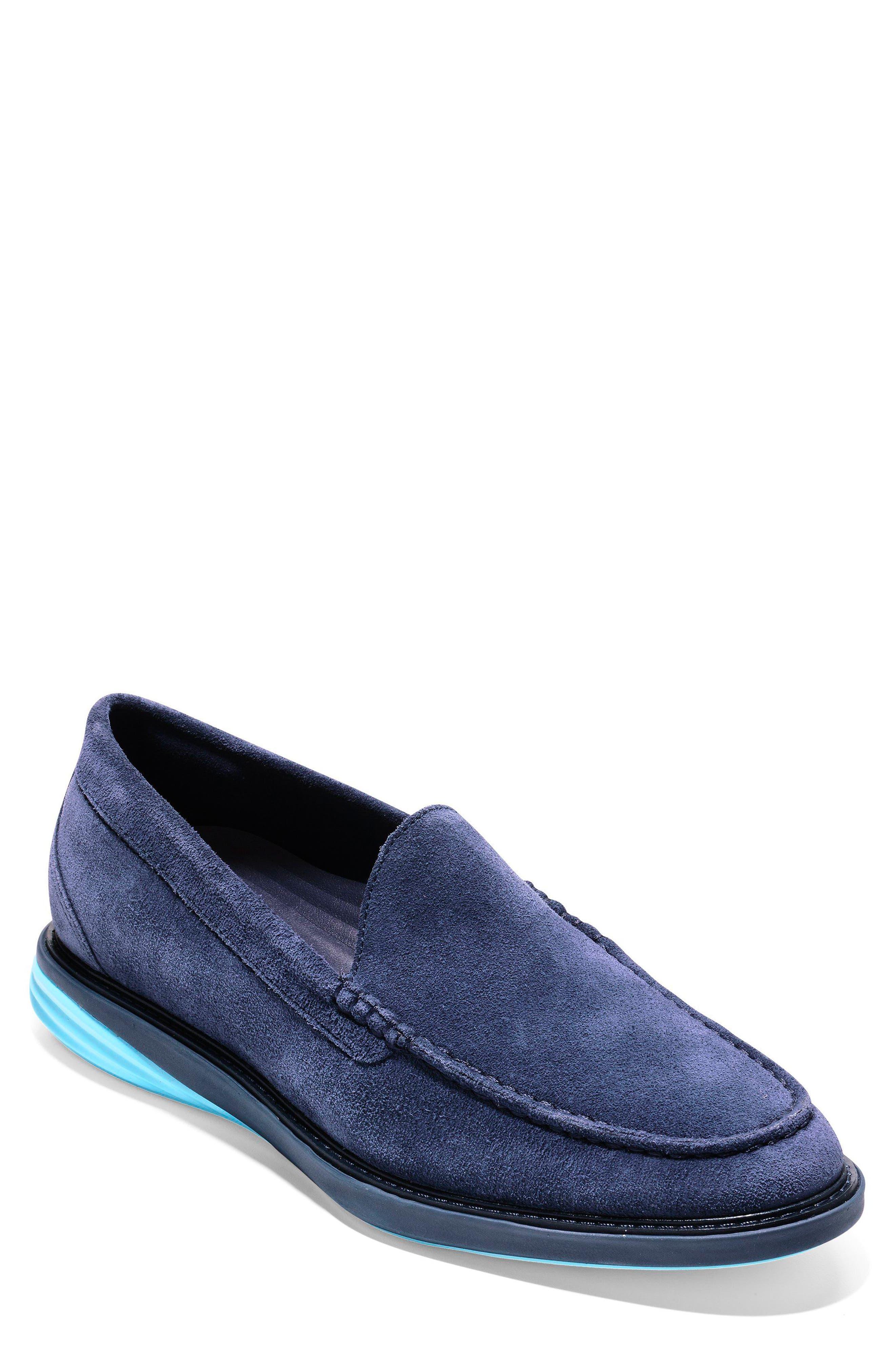 GrandEvølution Venetian Loafer,                             Main thumbnail 1, color,                             Marine Blue Suede
