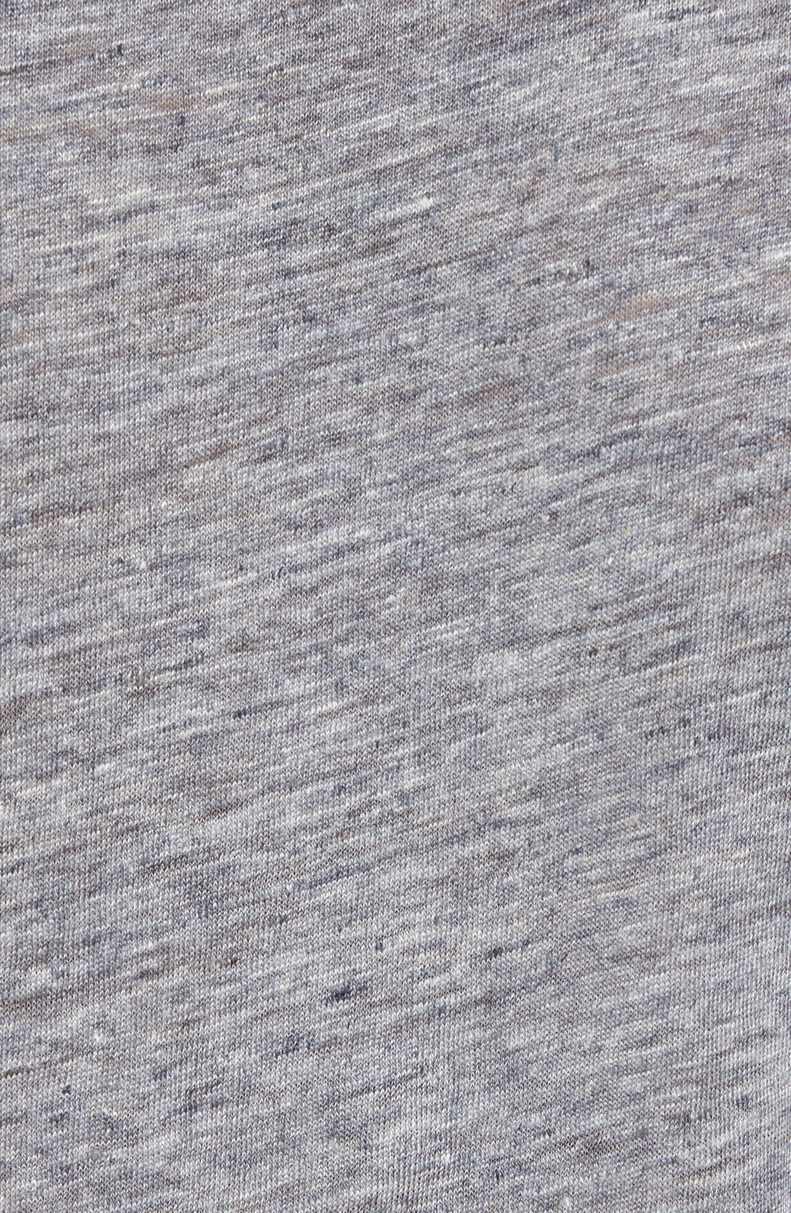 John Varvatos Crewneck Linen T-Shirt,                             Alternate thumbnail 5, color,                             Med Grey