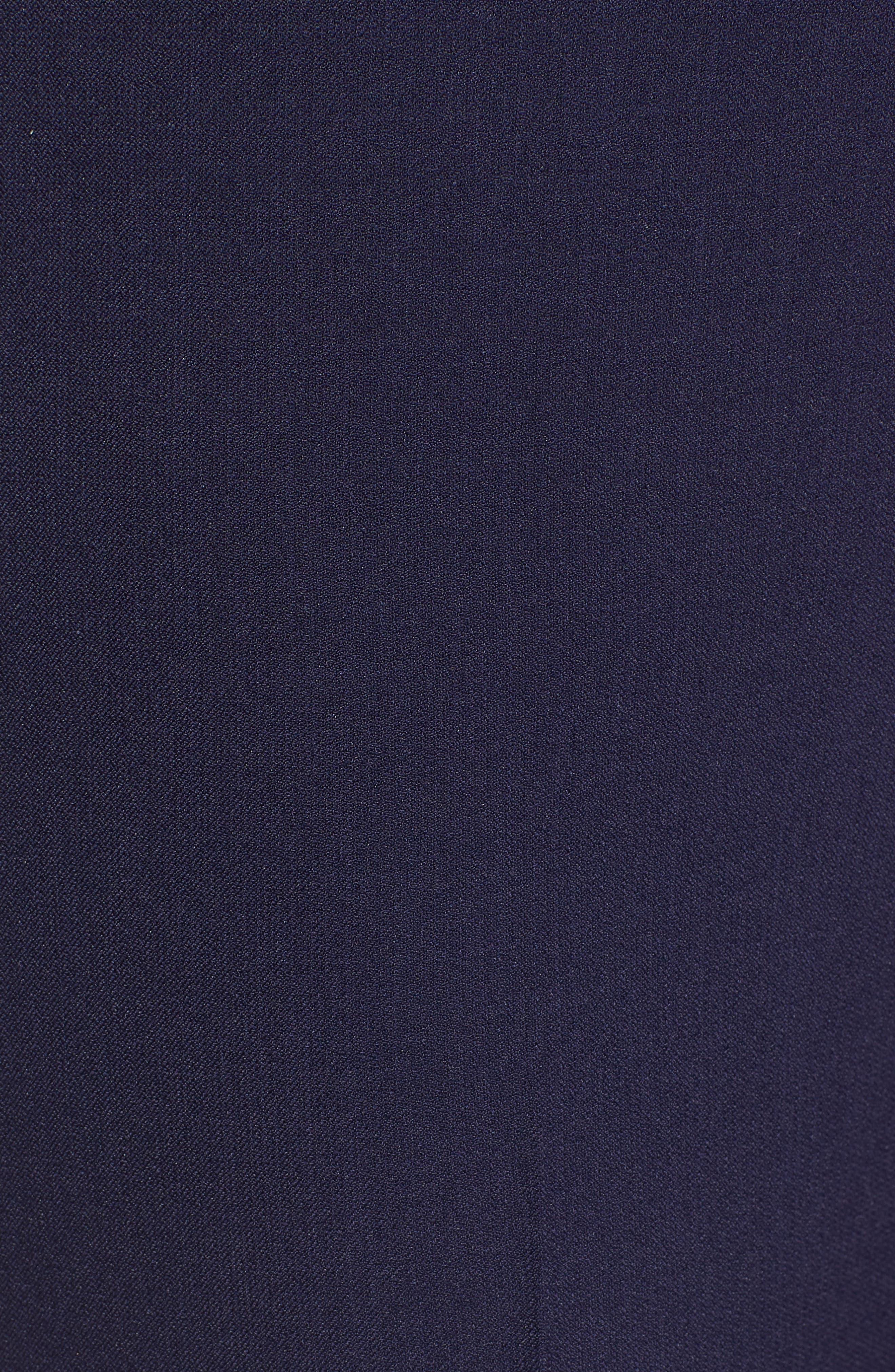 Crepe Slim Pants,                             Alternate thumbnail 6, color,                             Breton Blue