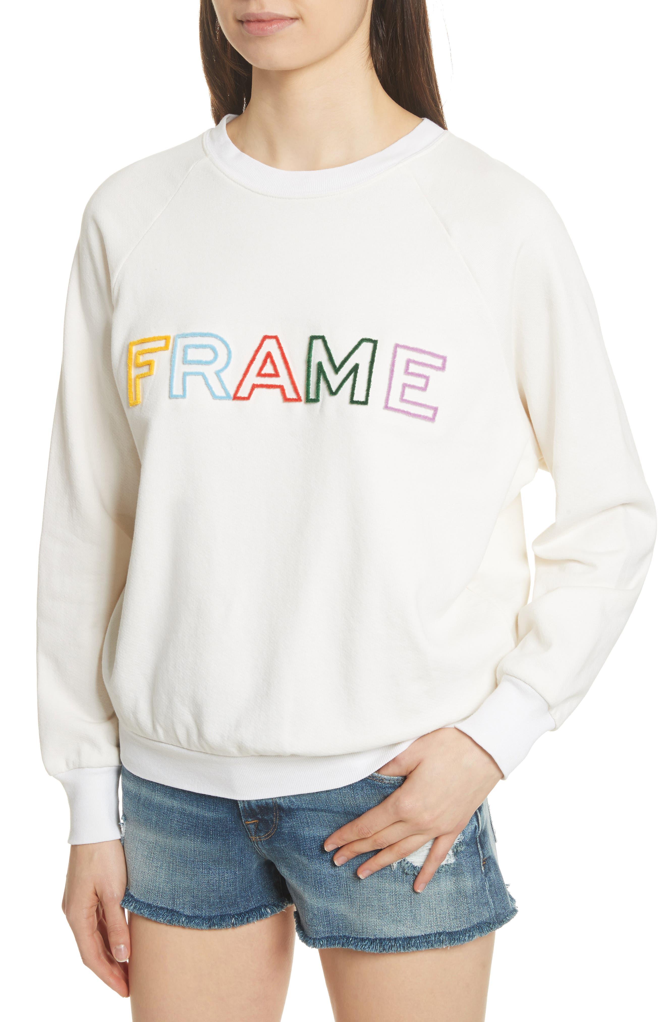 Logo Sweatshirt,                             Alternate thumbnail 5, color,                             Off White