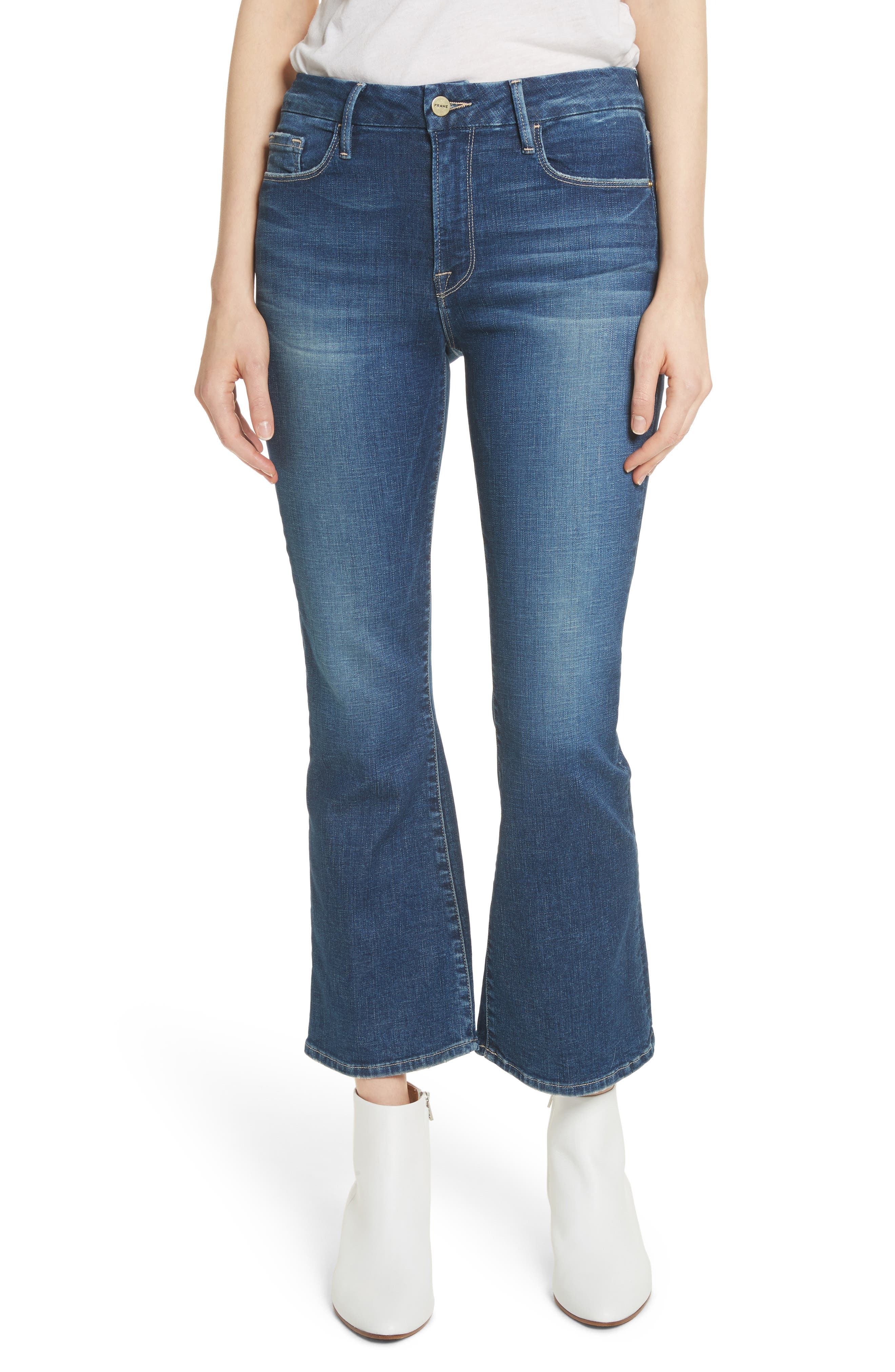 Le Crop Mini Boot Jeans,                         Main,                         color, Bagmore