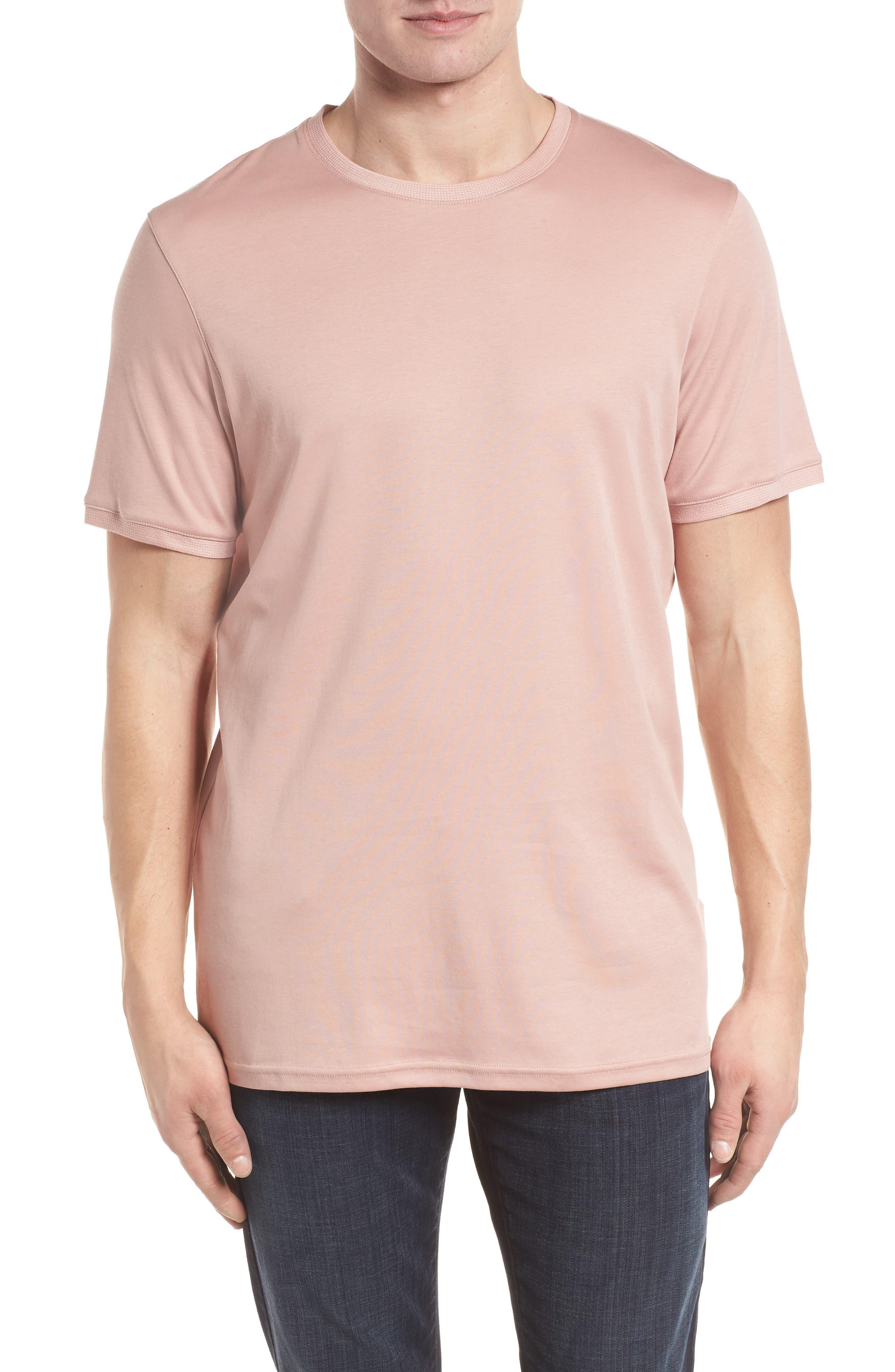 Piktt Crewneck T-Shirt,                         Main,                         color, Dusky Pink