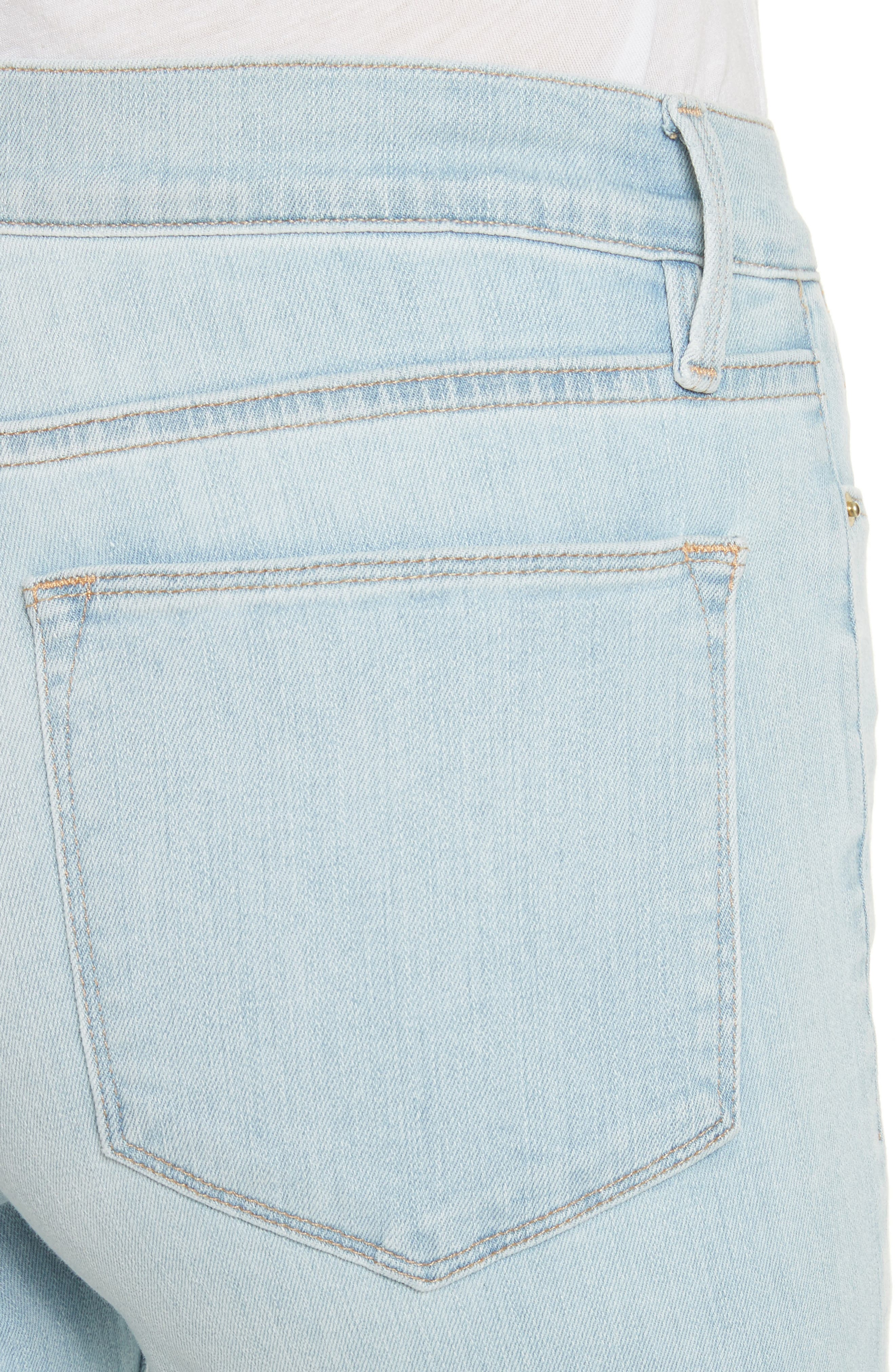 Le High Crop Straight Leg Jeans,                             Alternate thumbnail 6, color,                             Finchley
