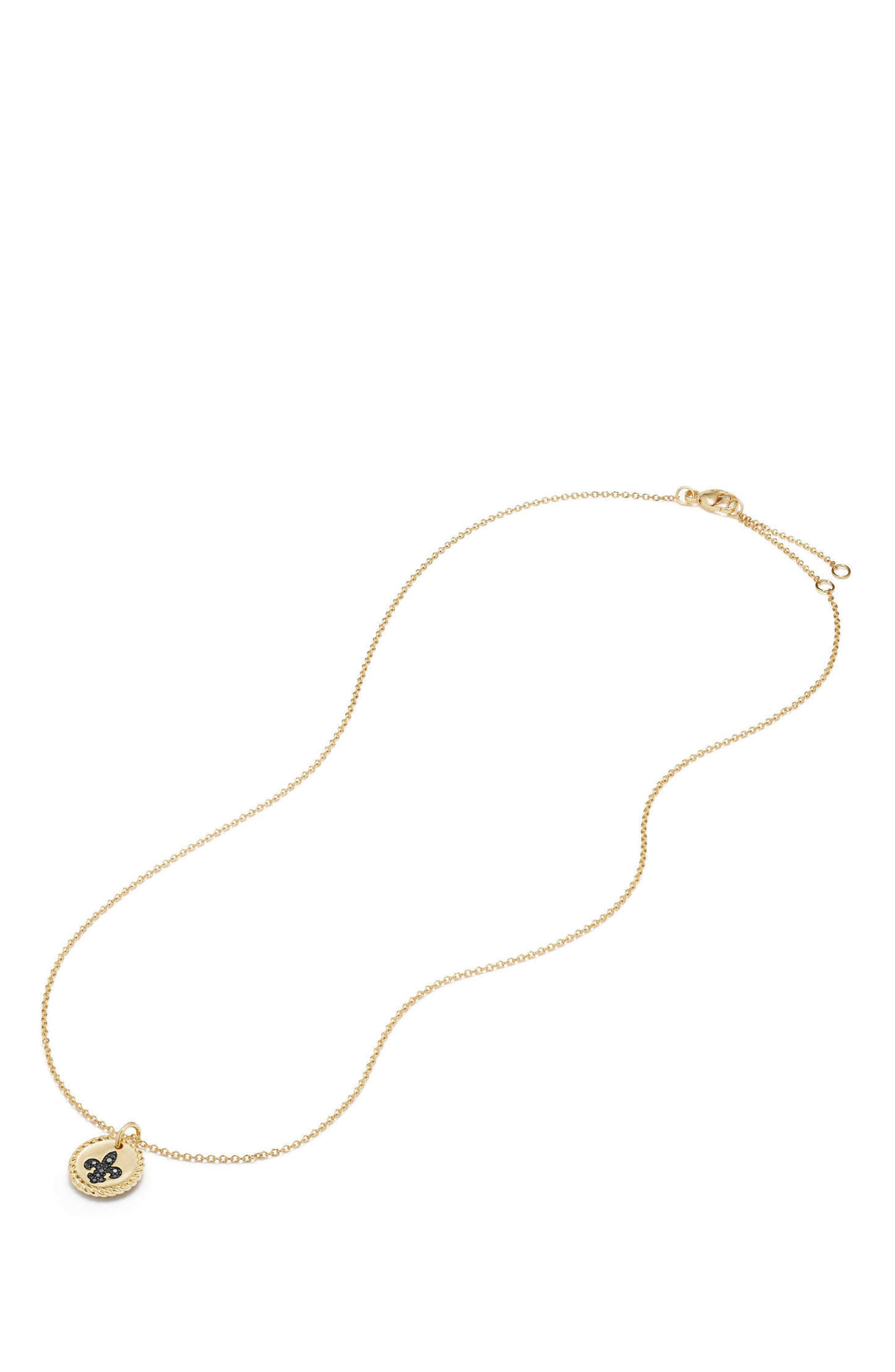Alternate Image 2  - David Yurman Cable Collectibles Anchor Necklace with Light Blue Sapphires in 18K Gold
