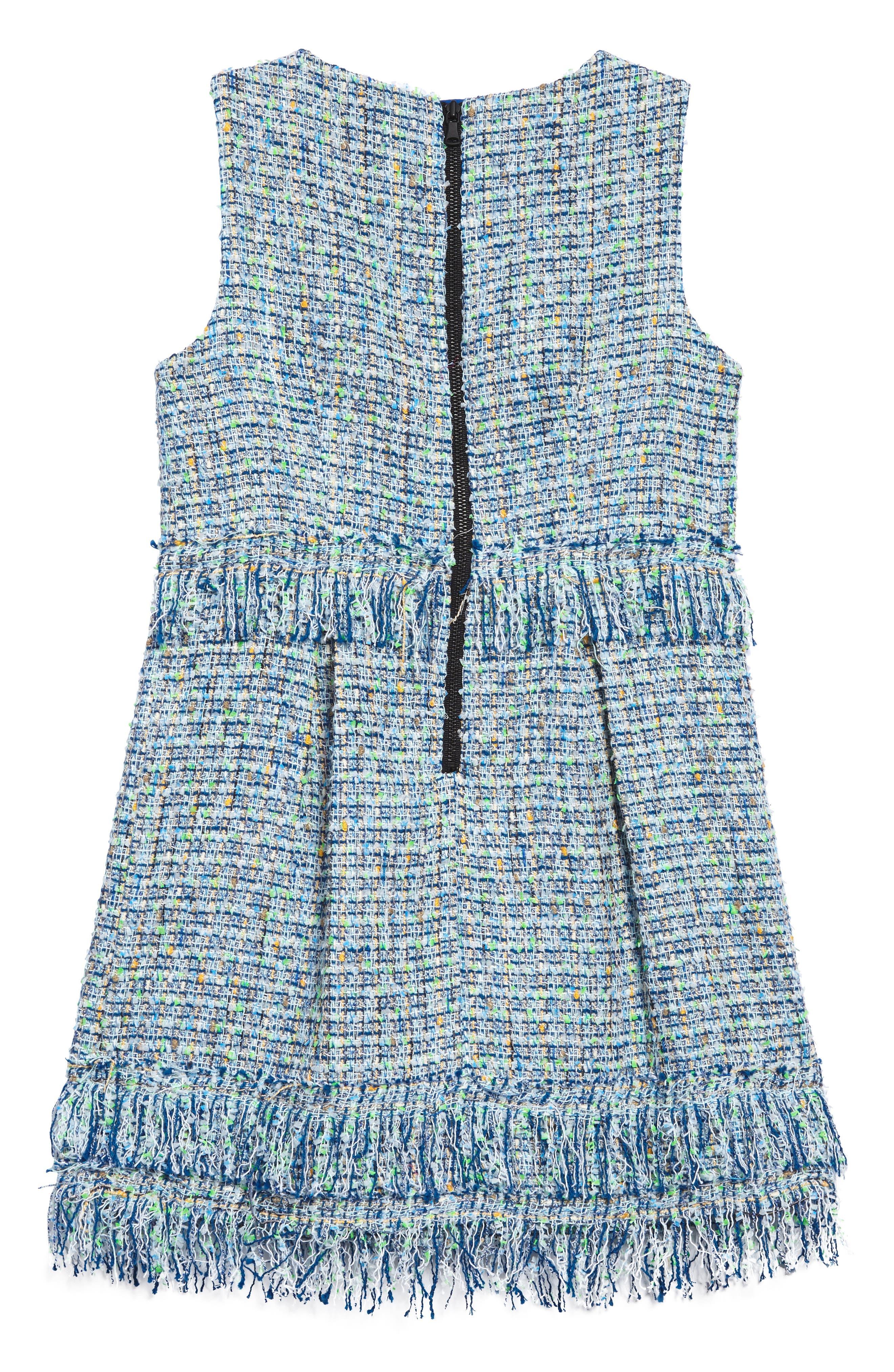 Alternate Image 2  - Milly Minis Tweed Dress (Big Girls)