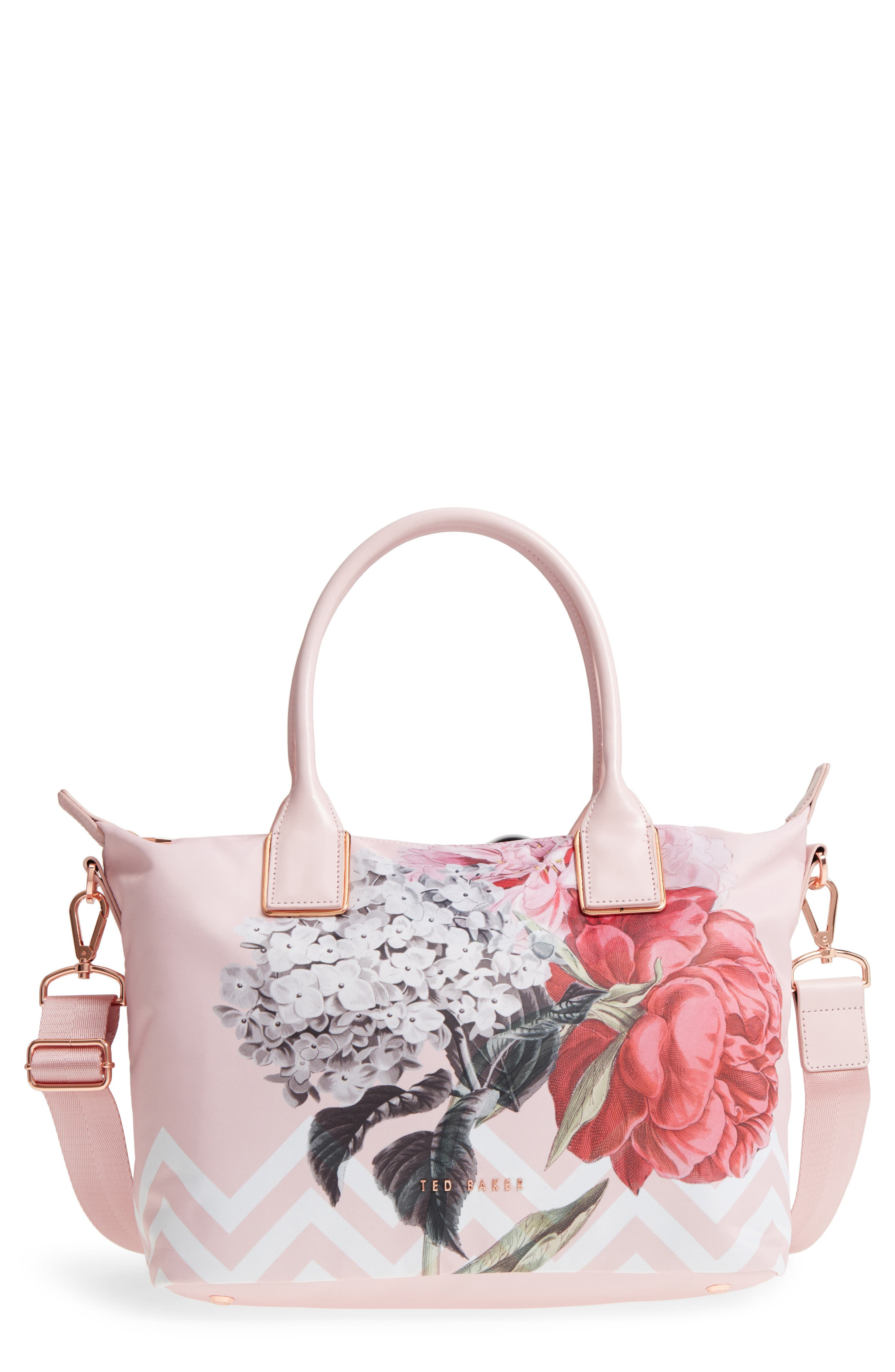 Small Palace Gardens Tote,                         Main,                         color, Dusky Pink