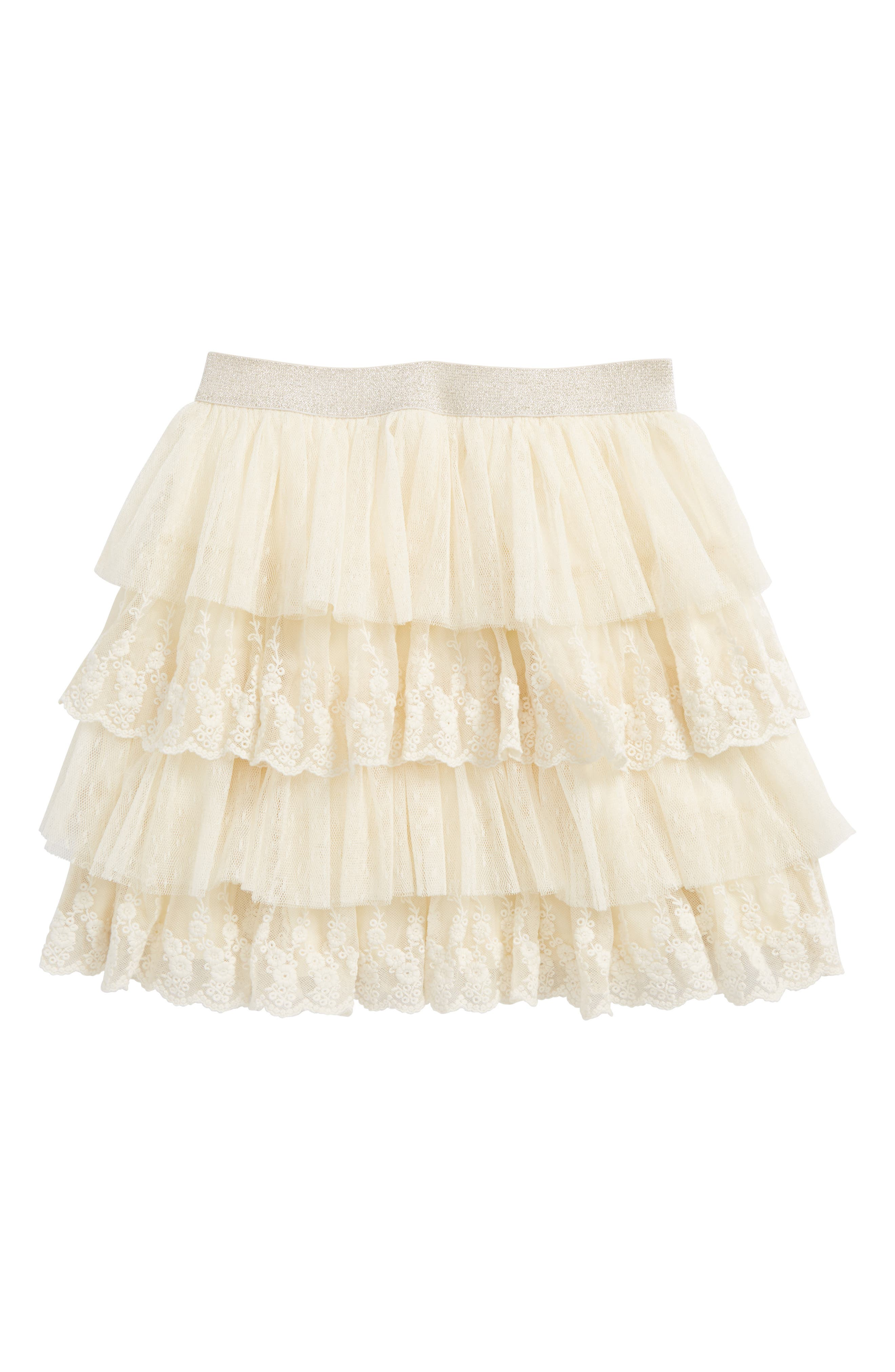 Lace Trim Tutu,                         Main,                         color, Ivory