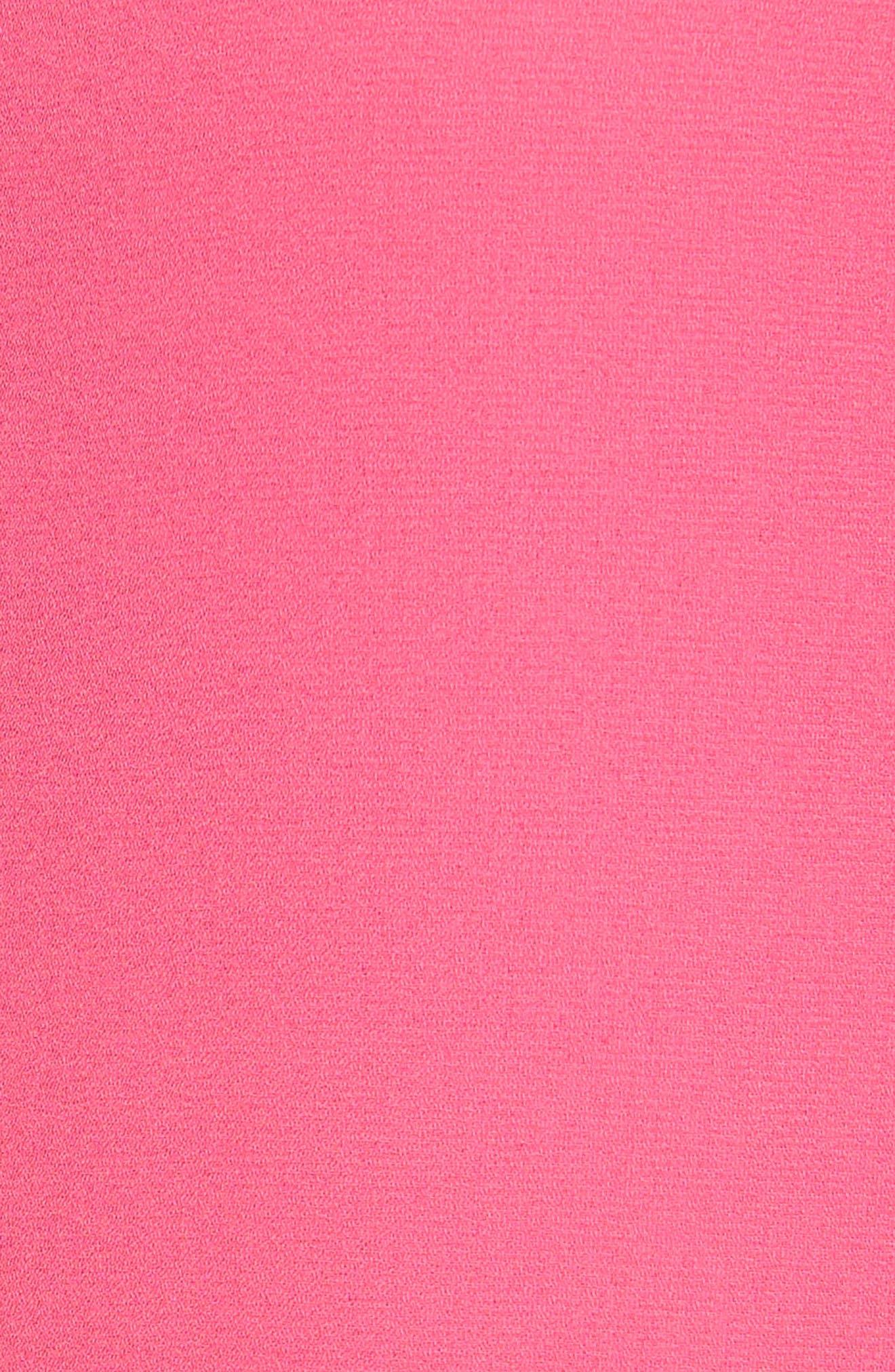 Ruffle Sleeve Peplum Stretch Cotton Blend Top,                             Alternate thumbnail 6, color,                             Pink Cabaret