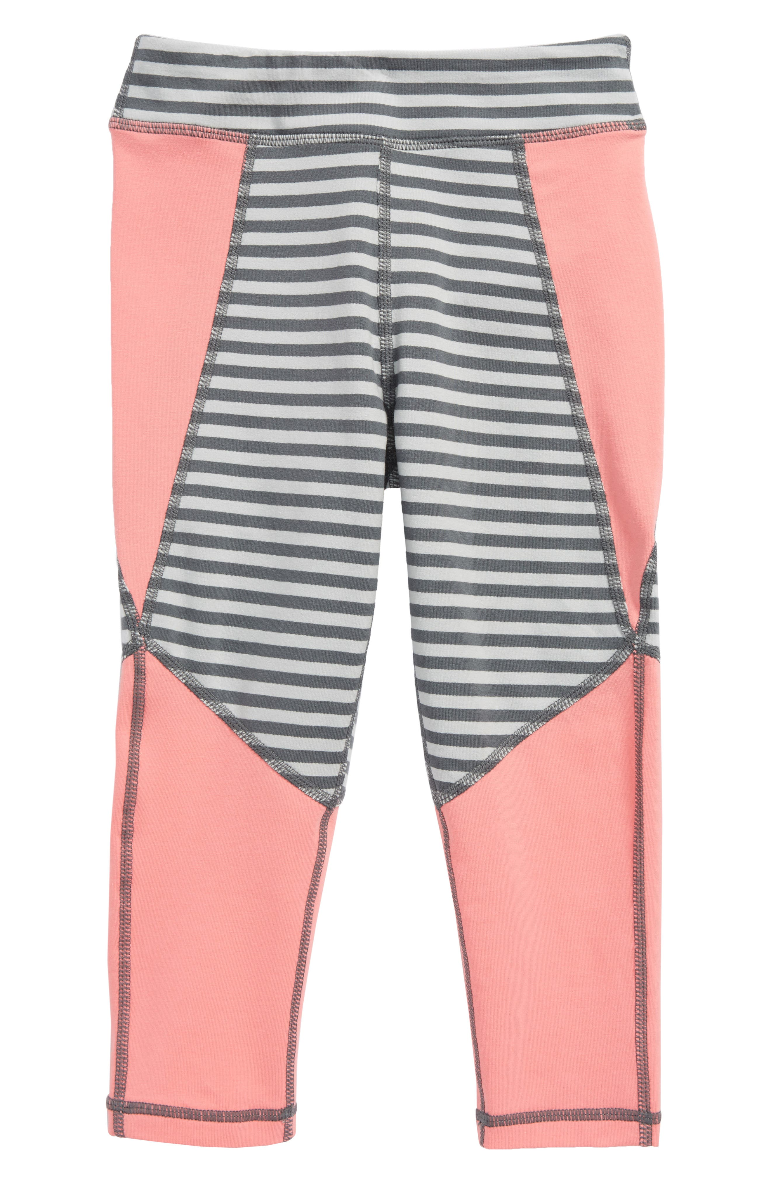 Alternate Image 1 Selected - Tea Collection Active Colorblock Crop Leggings (Toddler Girls, Little Girls & Big Girls)