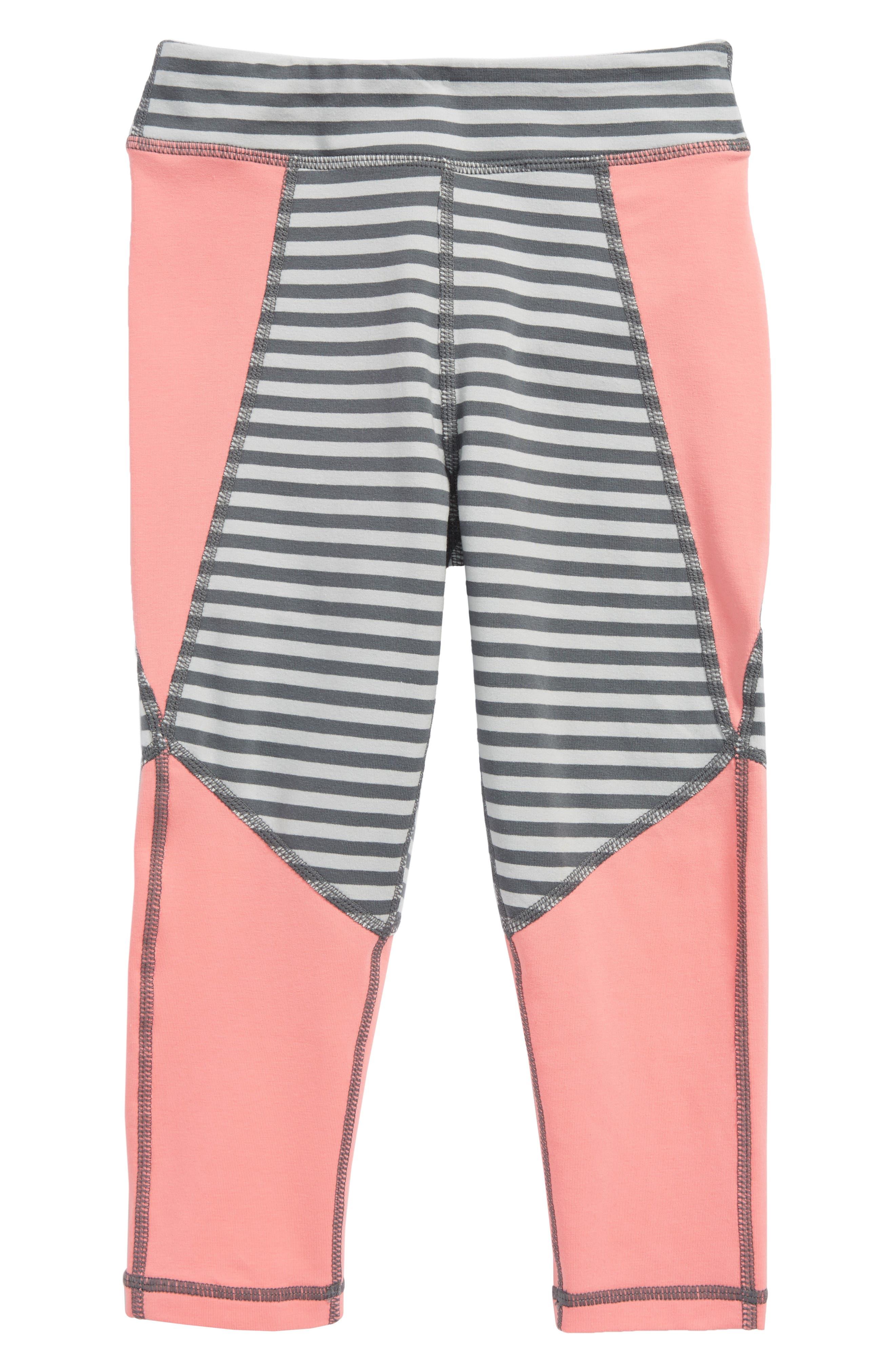 Main Image - Tea Collection Active Colorblock Crop Leggings (Toddler Girls, Little Girls & Big Girls)