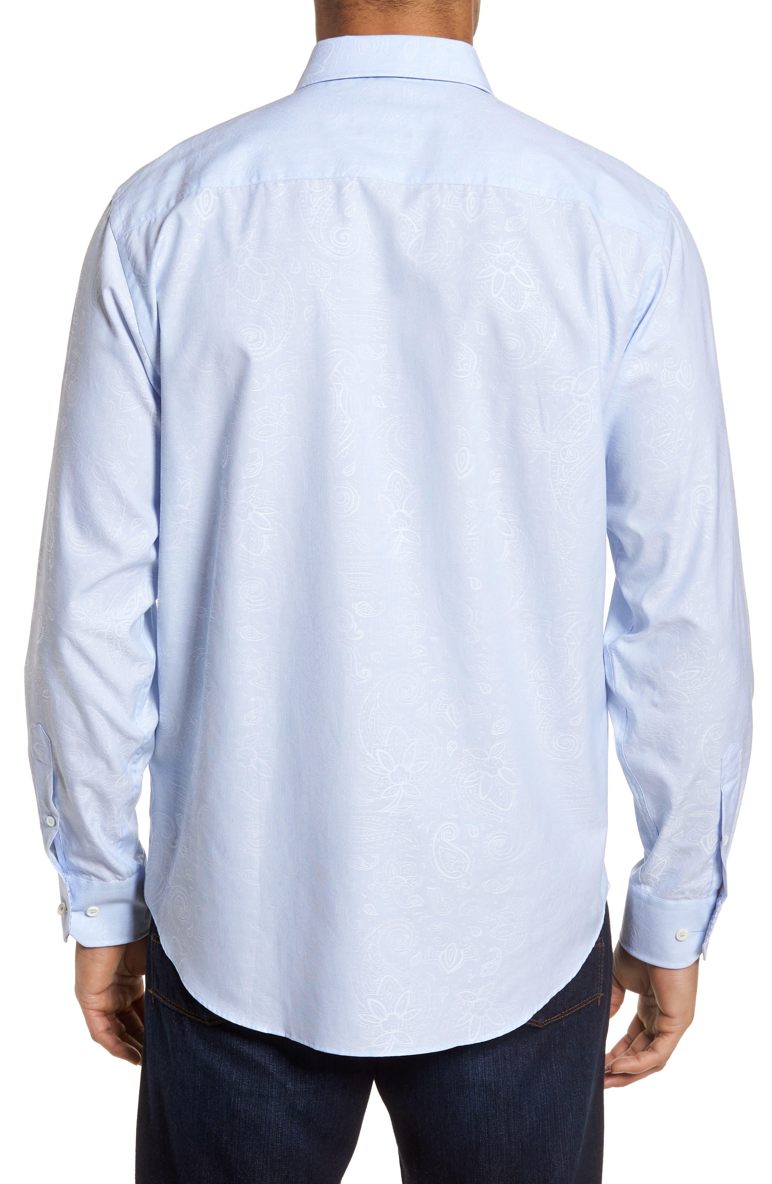 Classic Fit Woven Sport Shirt,                             Alternate thumbnail 2, color,                             Dusty Blue