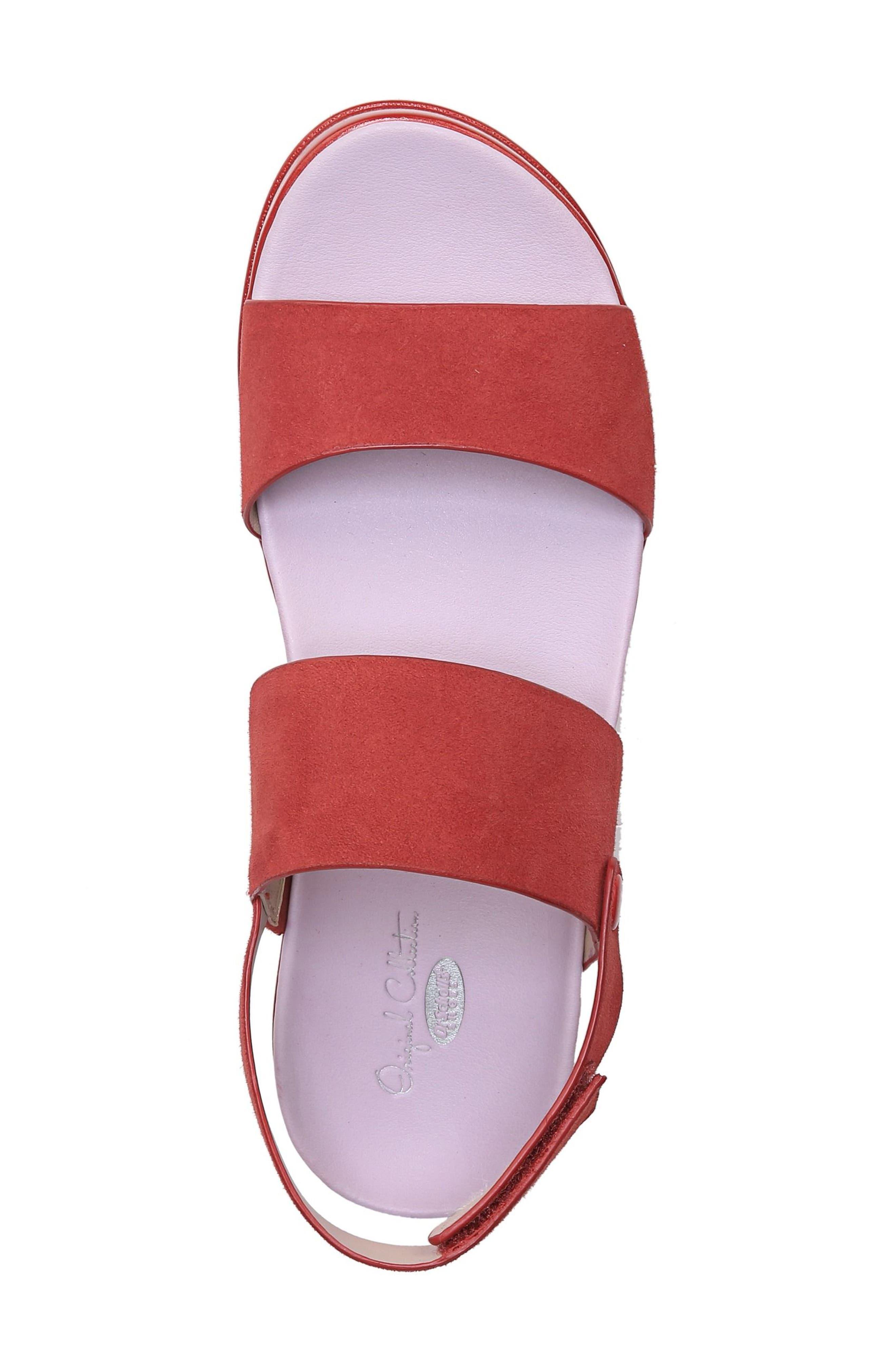 Scout Platform Sandal,                             Alternate thumbnail 5, color,                             Paprika Suede