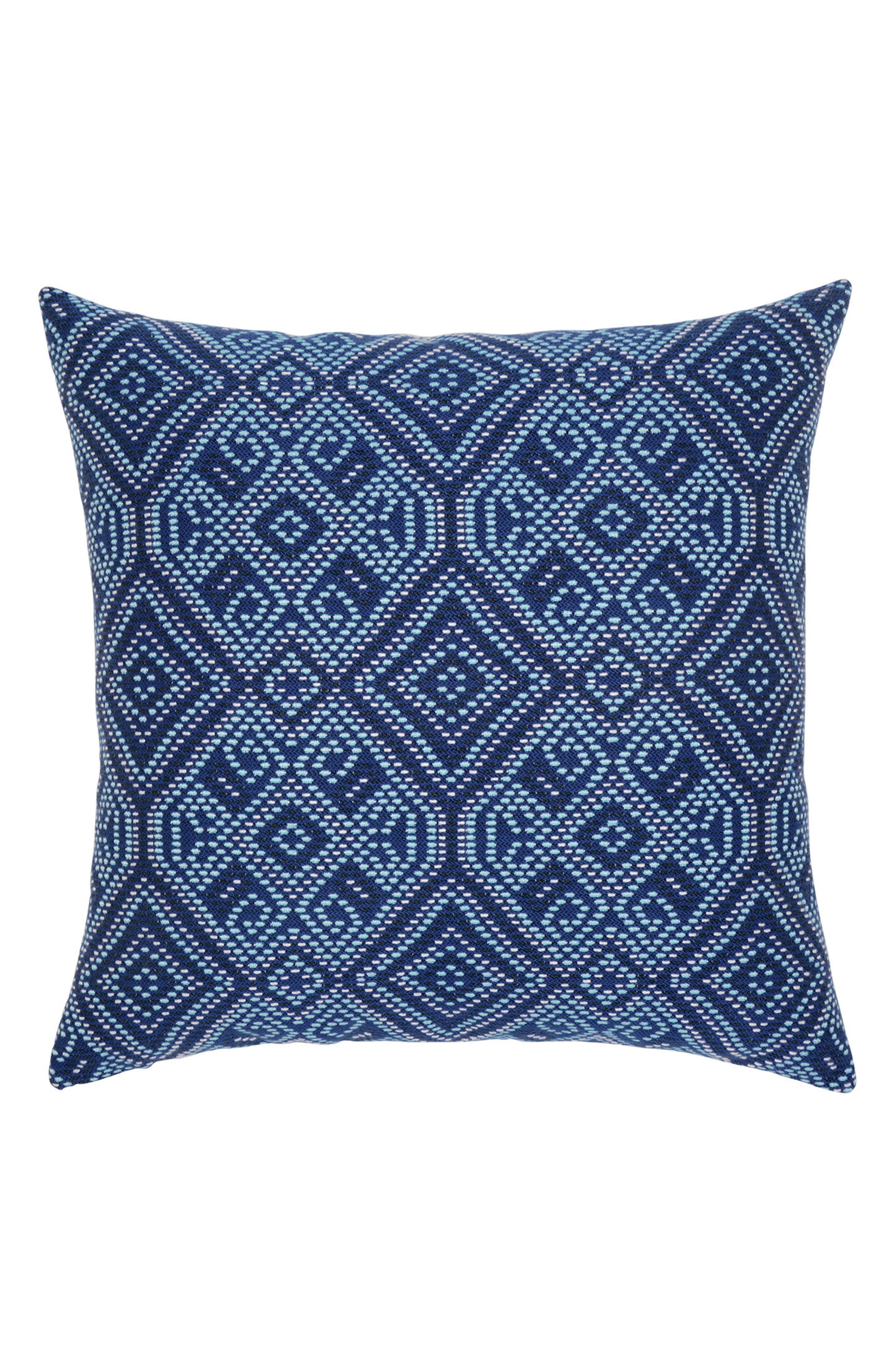Midnight Tile Indoor/Outdoor Accent Pillow,                         Main,                         color, Blue