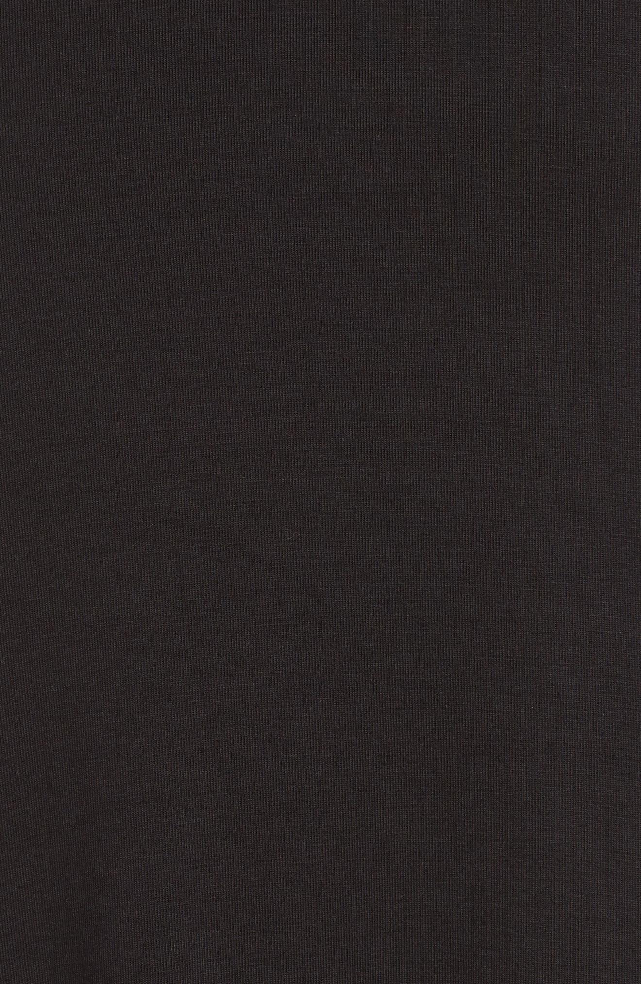Metallic Crewneck Maxi Dress,                             Alternate thumbnail 5, color,                             Black