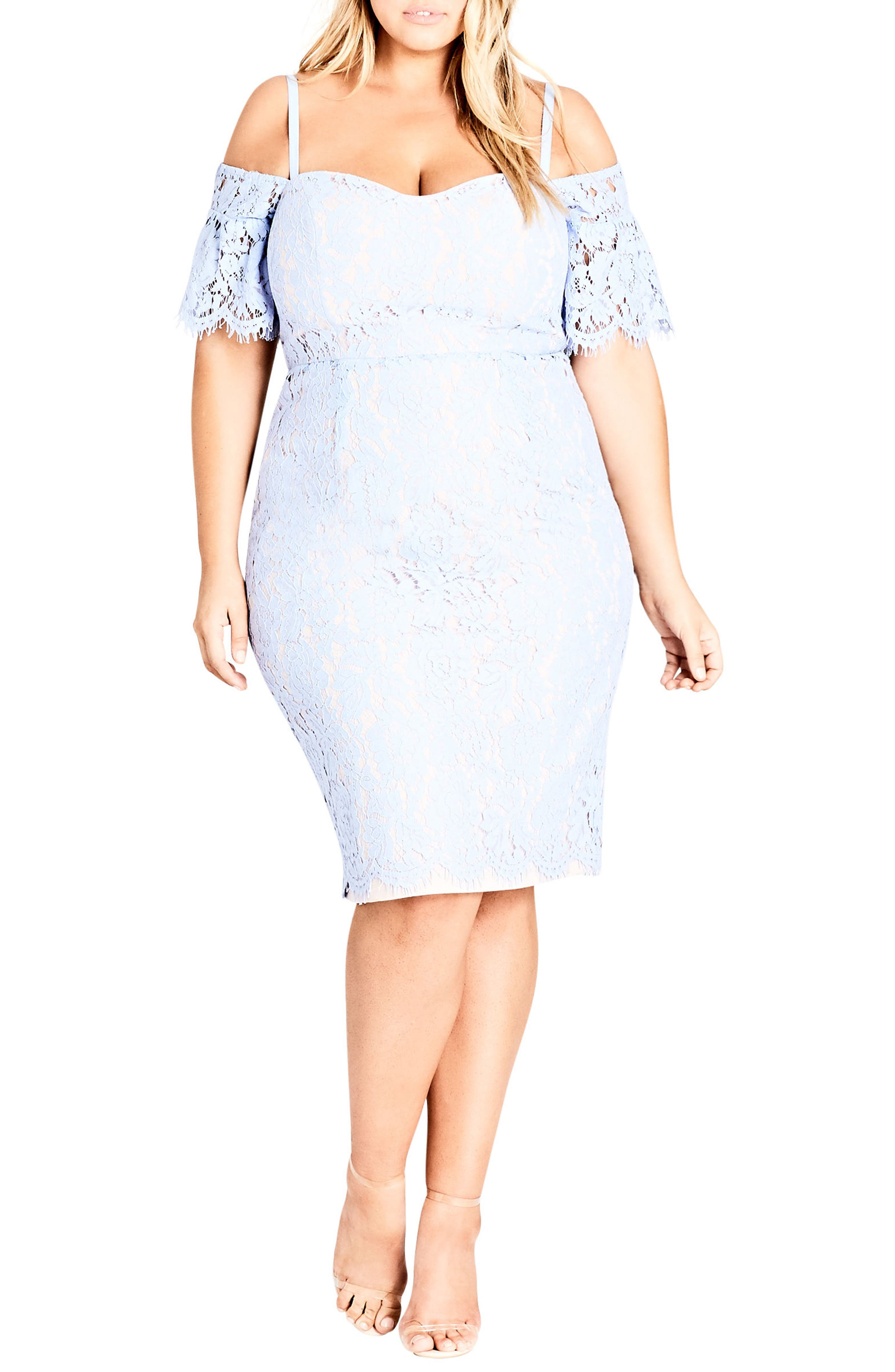 City Chic Lace Whisper Dress (Plus Size)