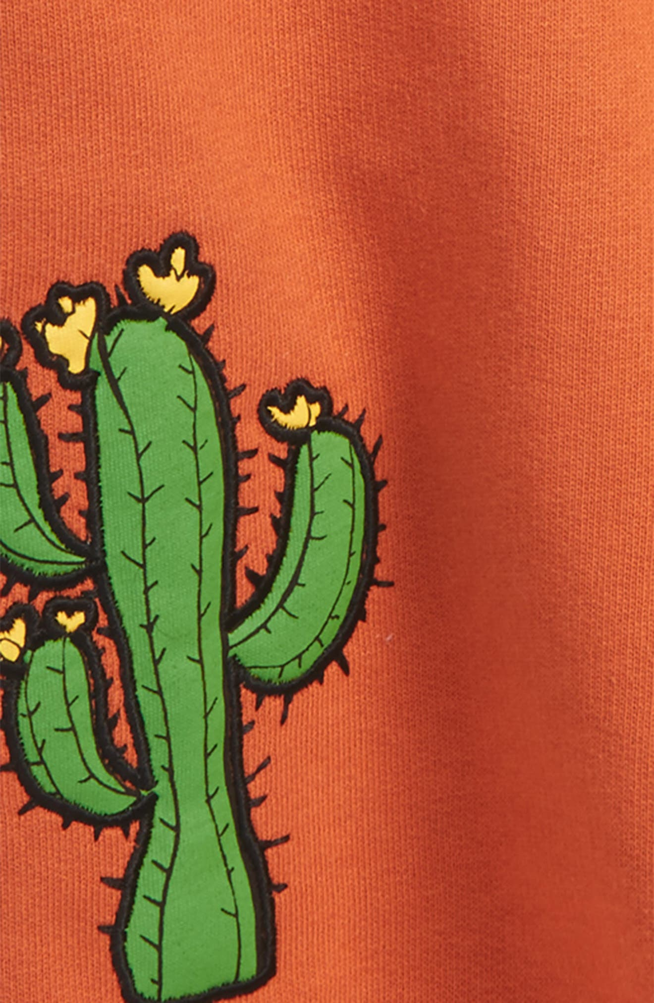 Donkey & Cactus Appliqué Organic Cotton Sweatshirt,                             Alternate thumbnail 2, color,                             Orange