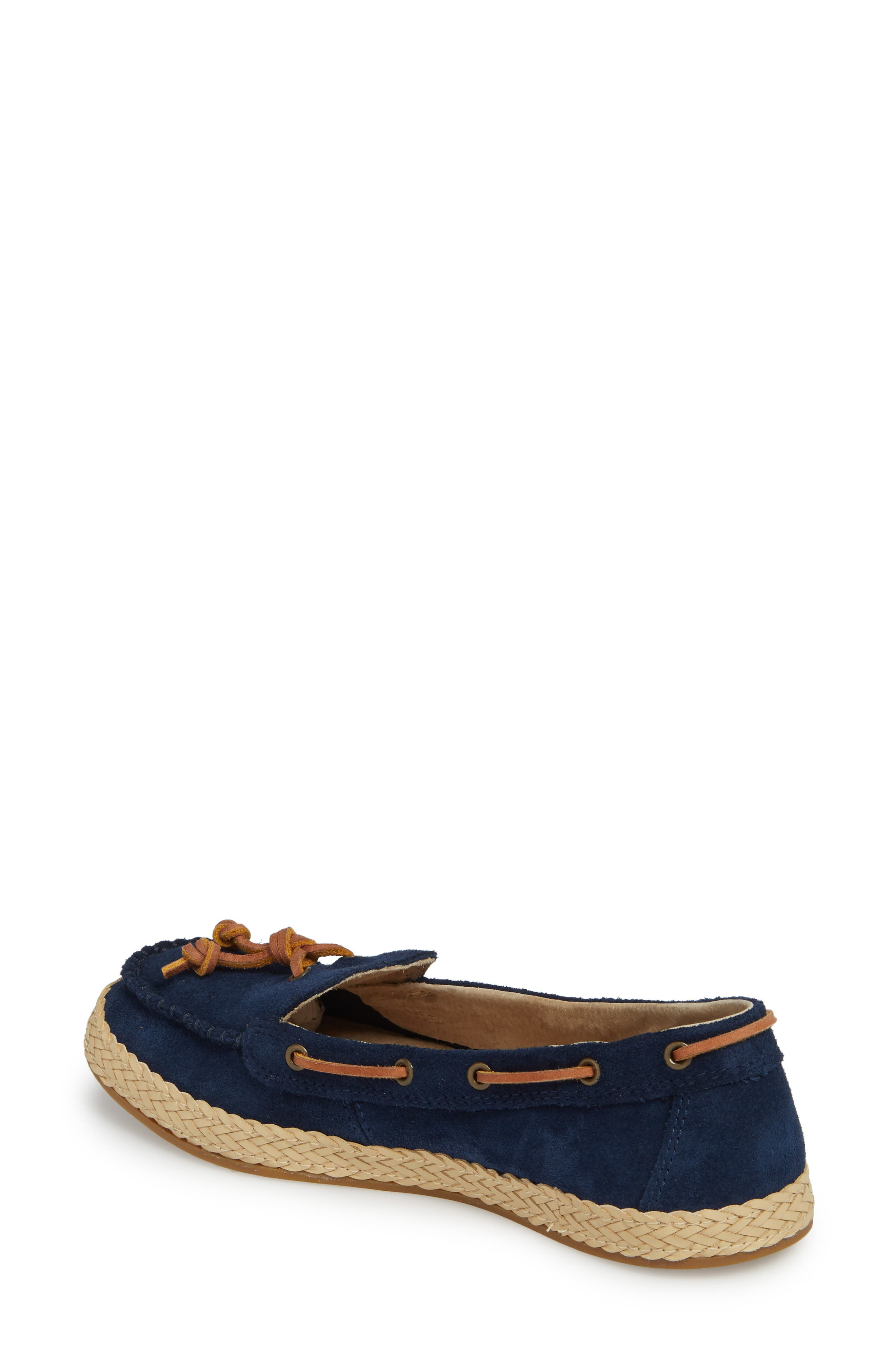 Channtal Loafer,                             Alternate thumbnail 2, color,                             Navy Suede