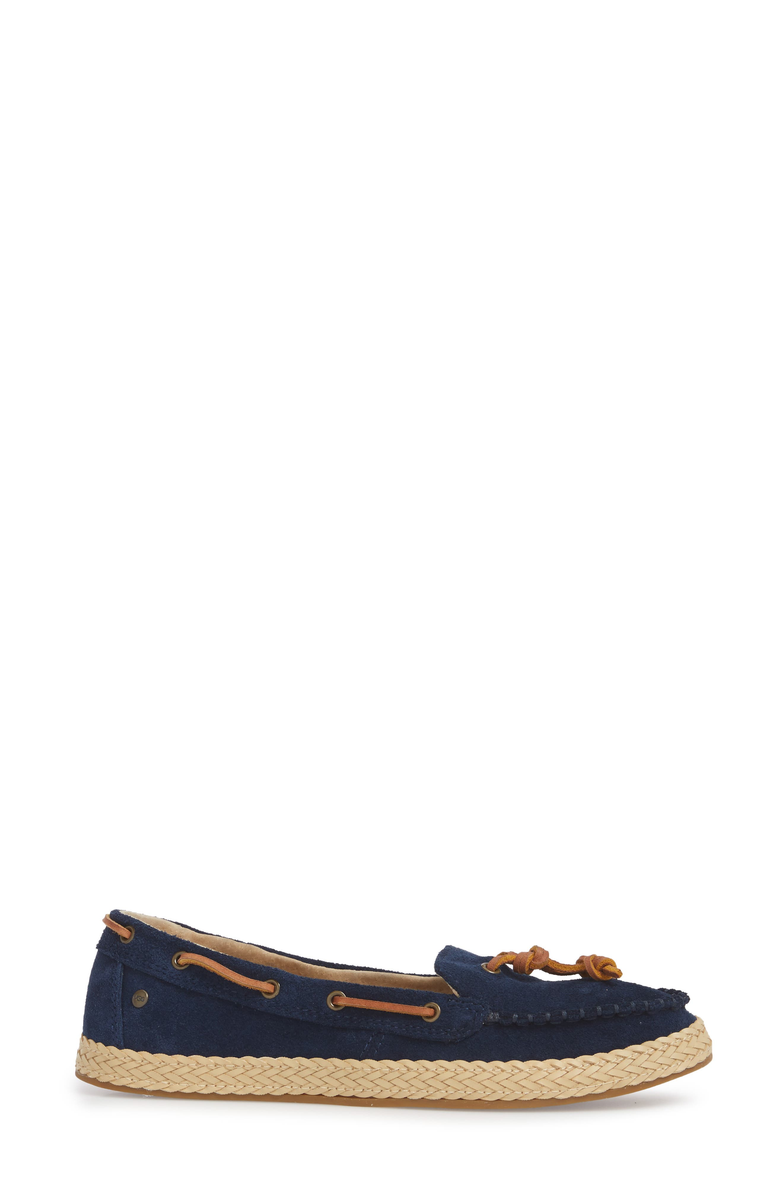Channtal Loafer,                             Alternate thumbnail 3, color,                             Navy Suede