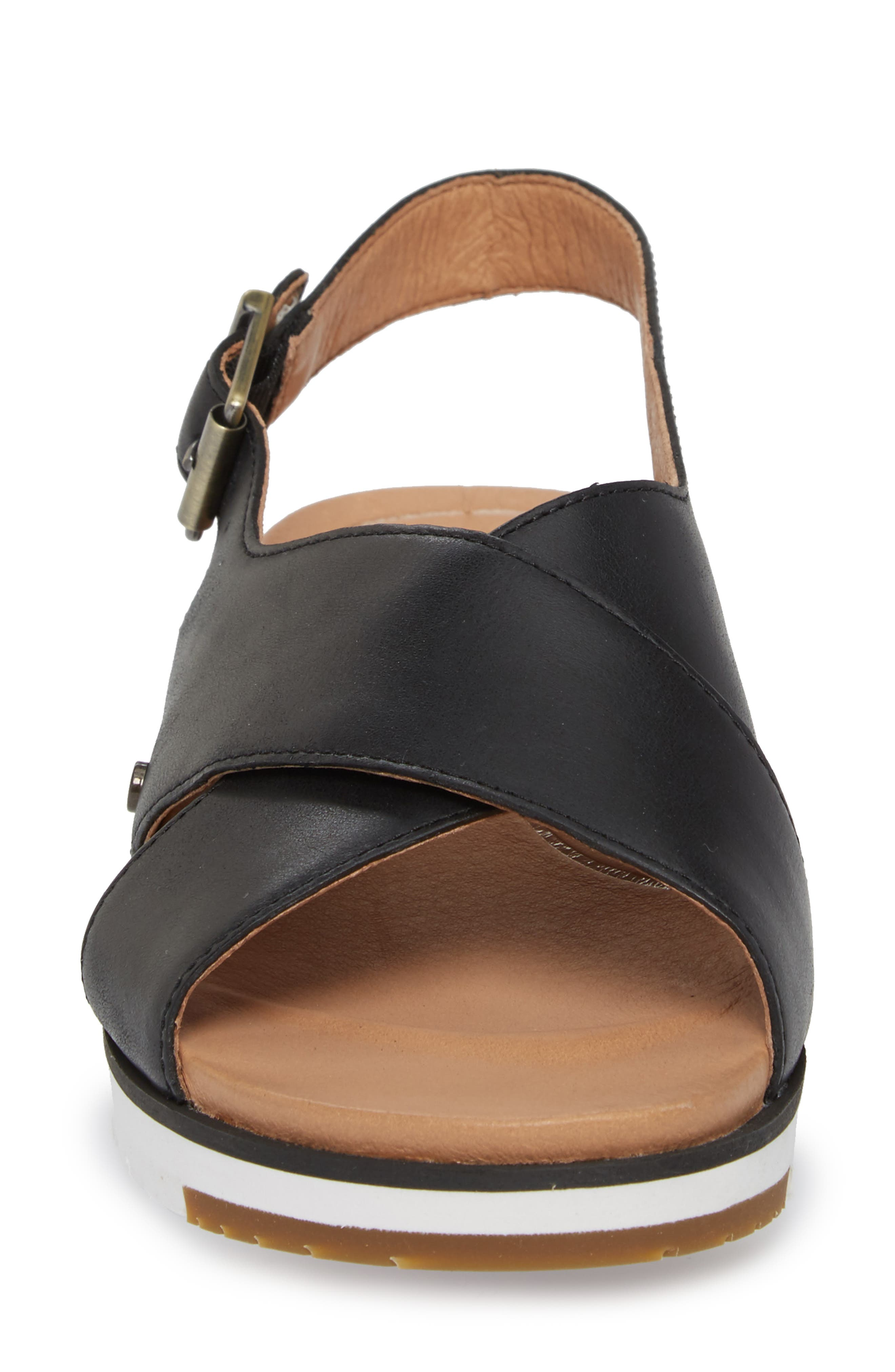 Kamile Sandal,                             Alternate thumbnail 4, color,                             Black Leather