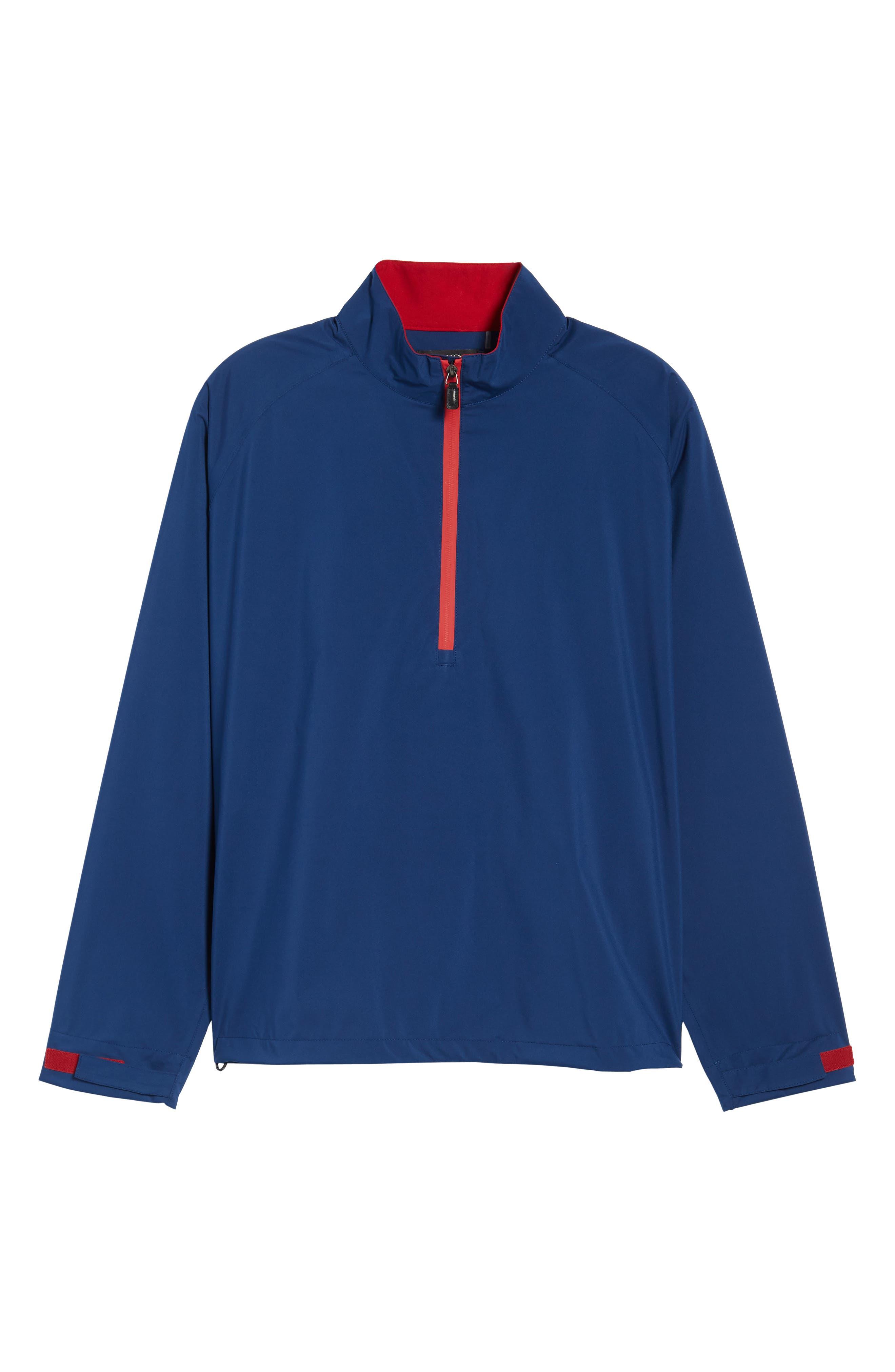 Regular Fit Half Zip Performance Pullover,                             Alternate thumbnail 6, color,                             Navy