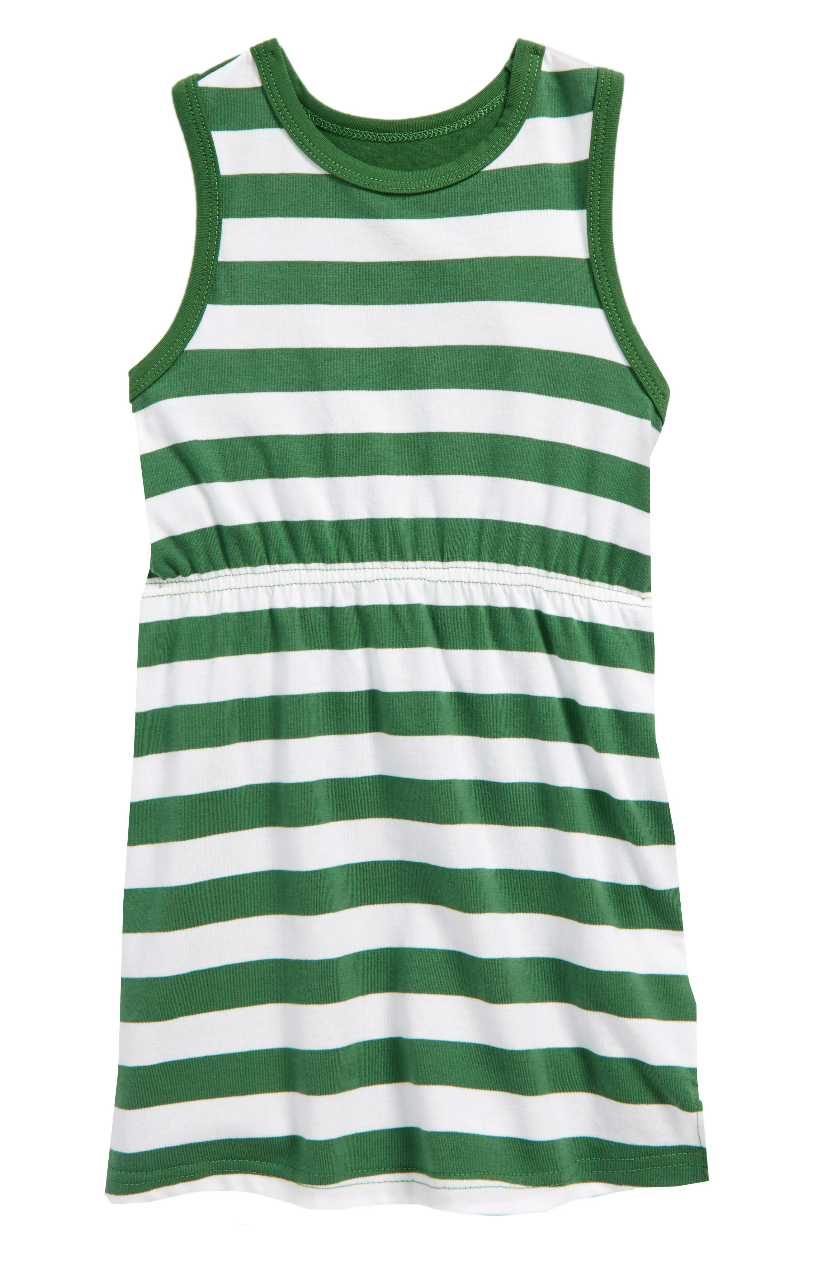 Main Image - Tiny Tribe Check You Later Racerback Dress (Toddler Girls & Little Girls)