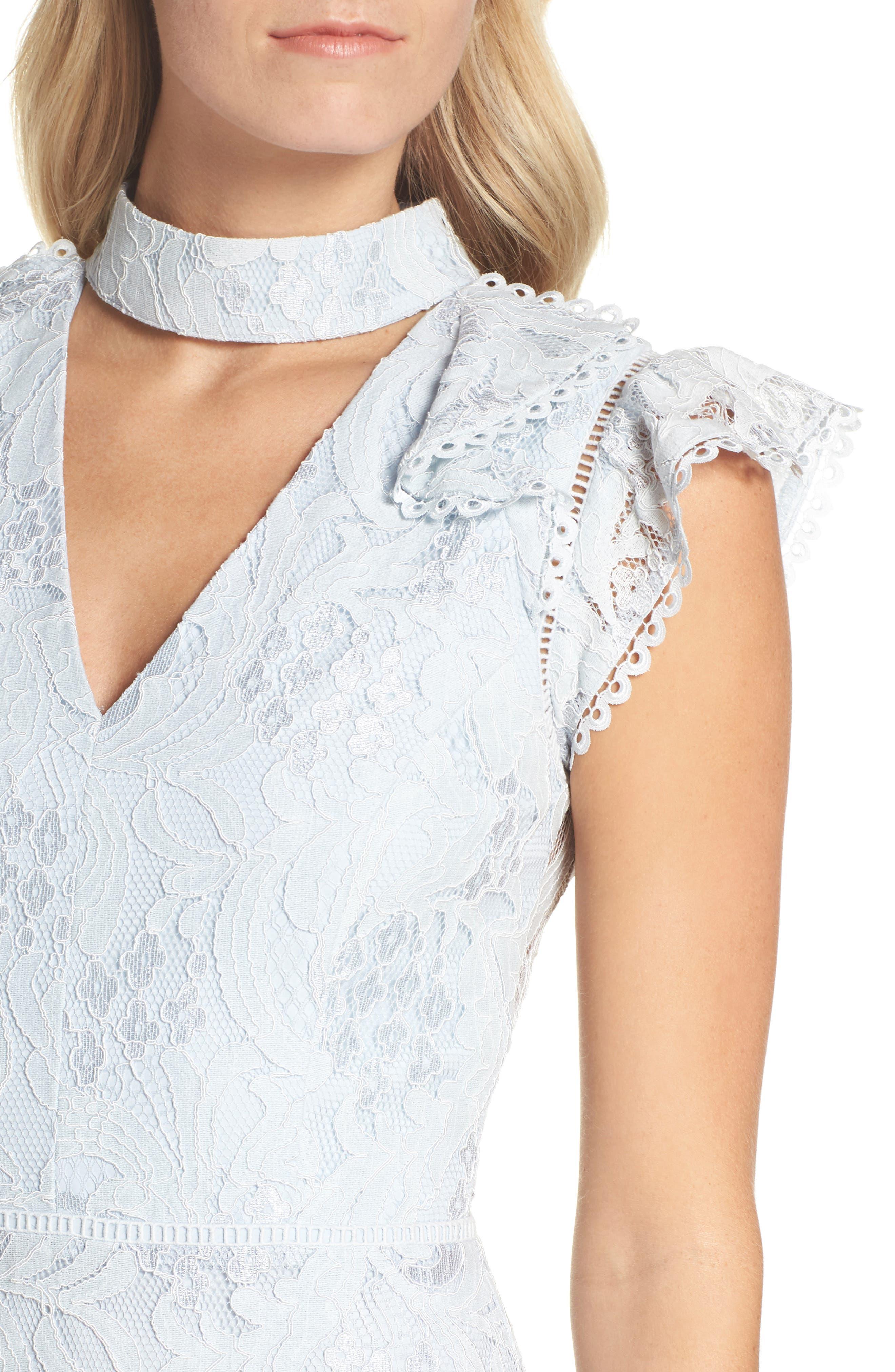 Alternate Image 4  - Adelyn Rae Delilah Lace Sheath Dress