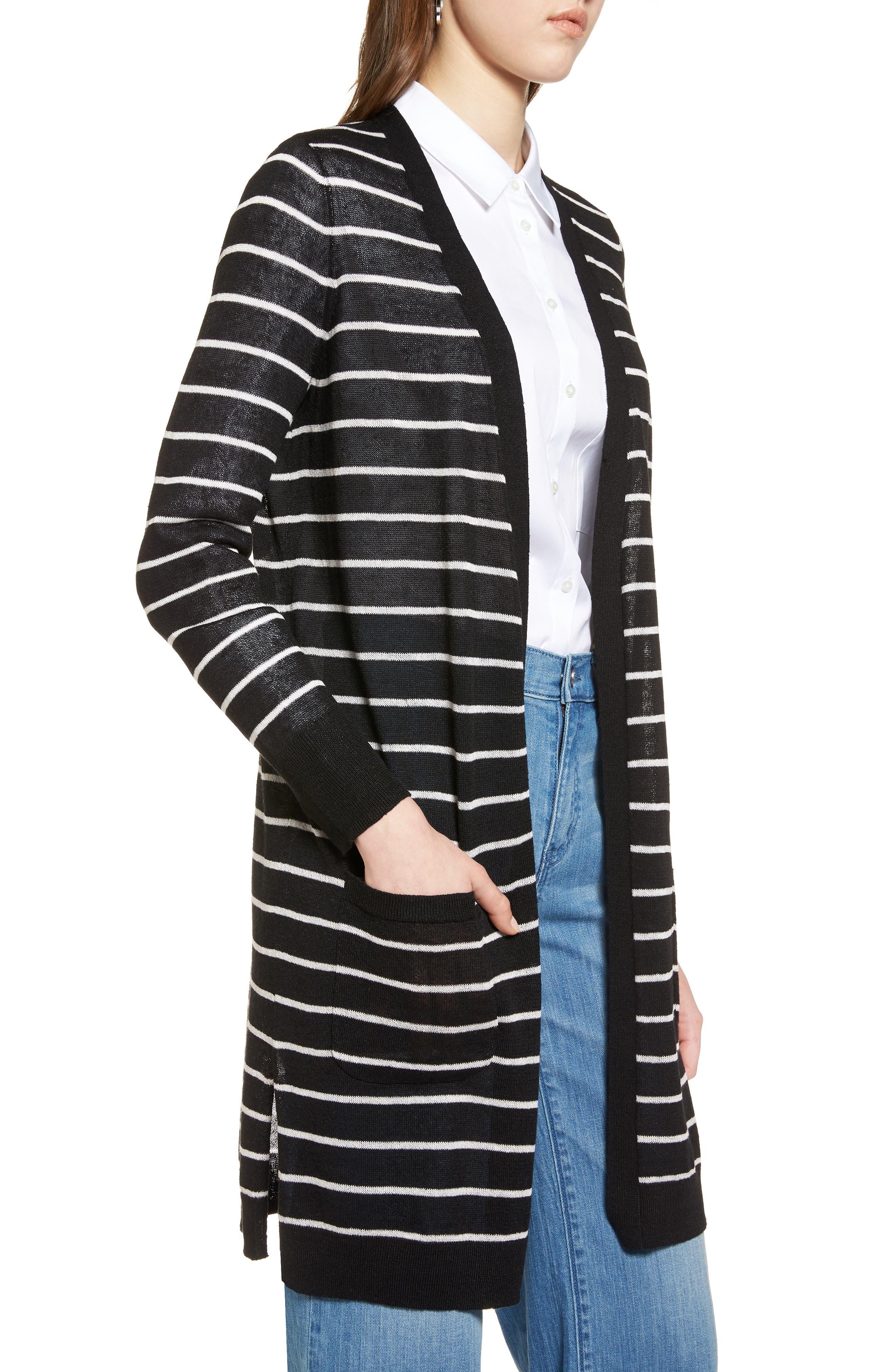 Alternate Image 3  - Halogen® Long Linen Blend Cardigan (Regular & Petite)