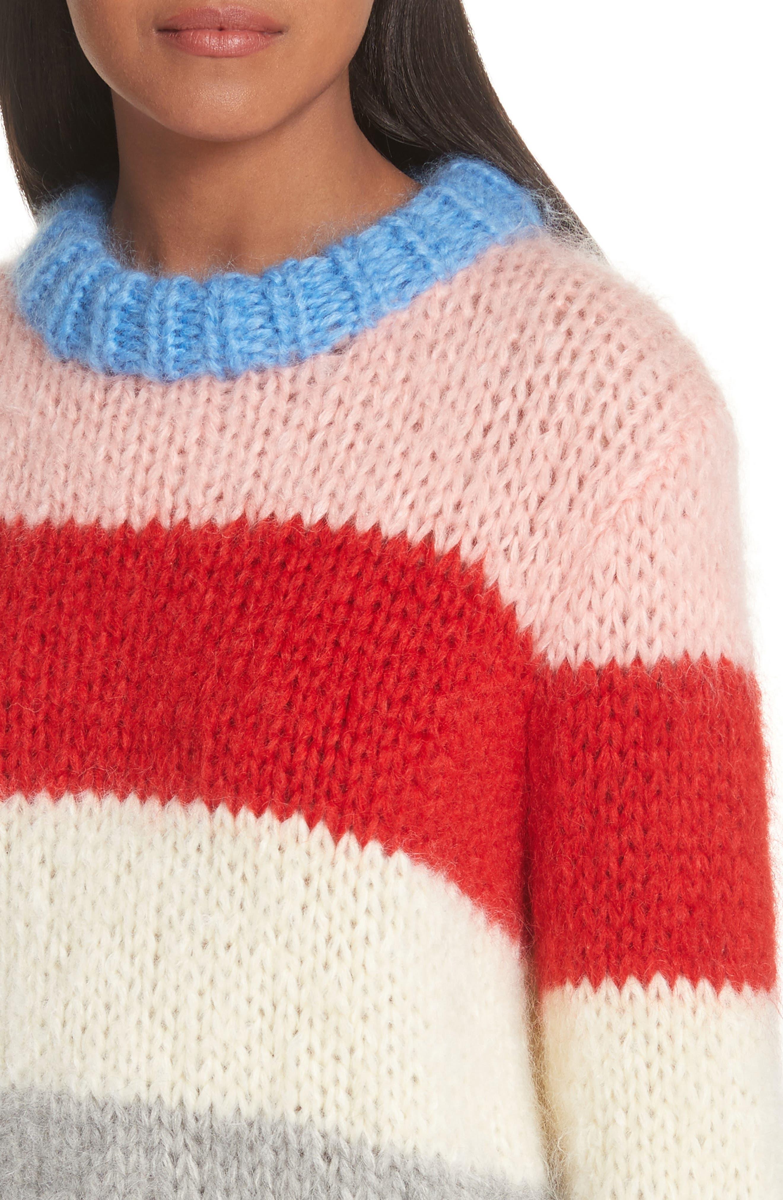 Alternate Image 4  - GANNI Julliard Multistripe Sweater
