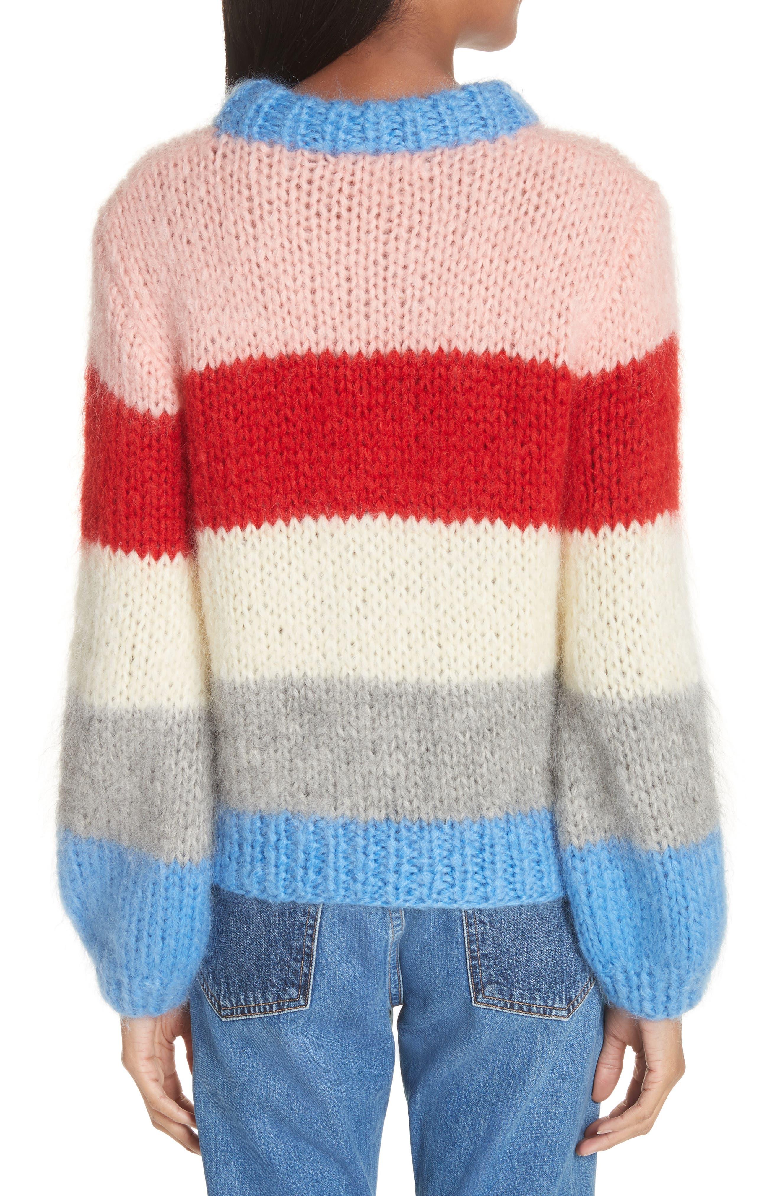 Alternate Image 2  - GANNI Julliard Multistripe Sweater