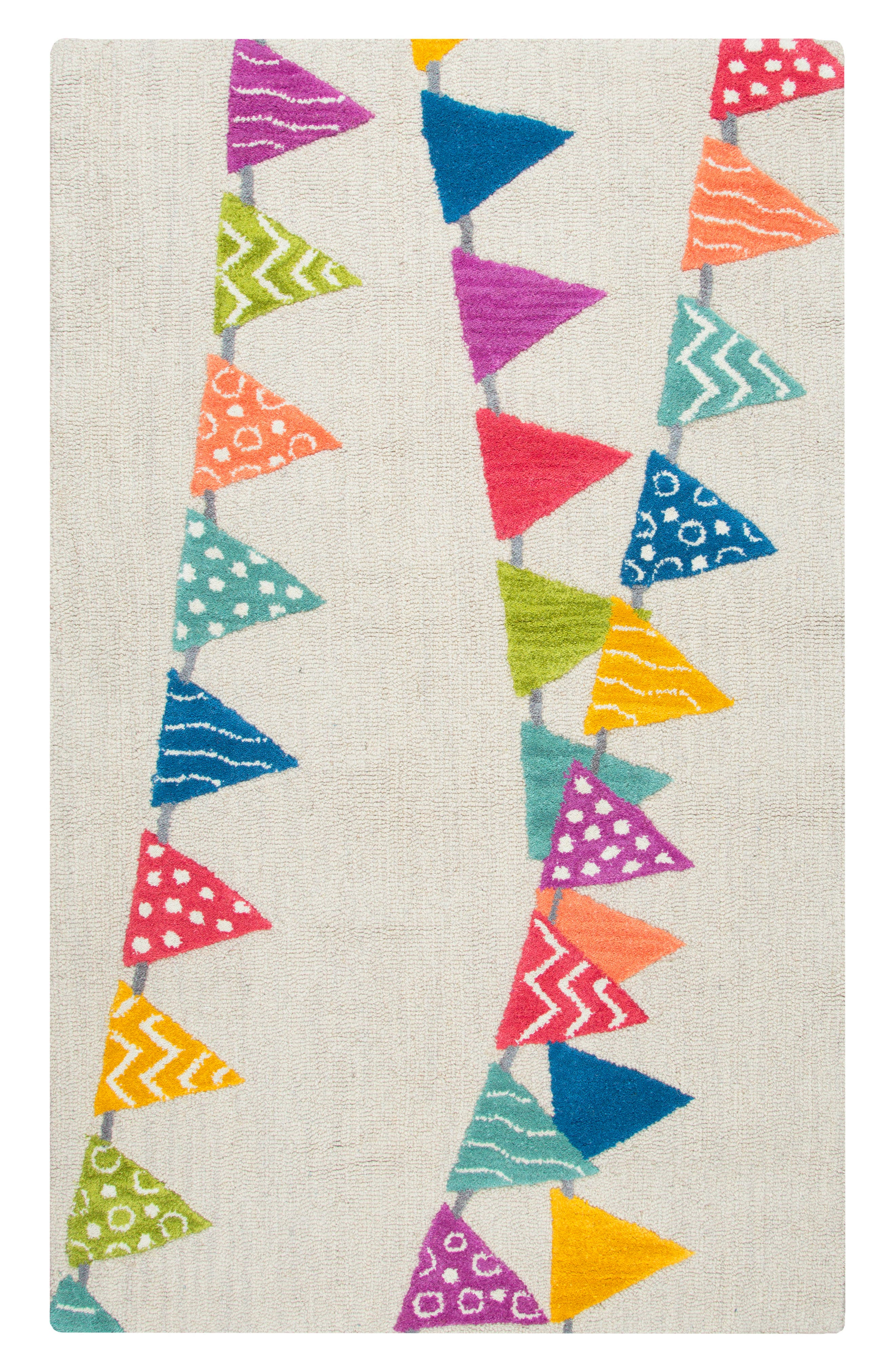 Play Day Flags Rug,                             Main thumbnail 1, color,                             Ivory