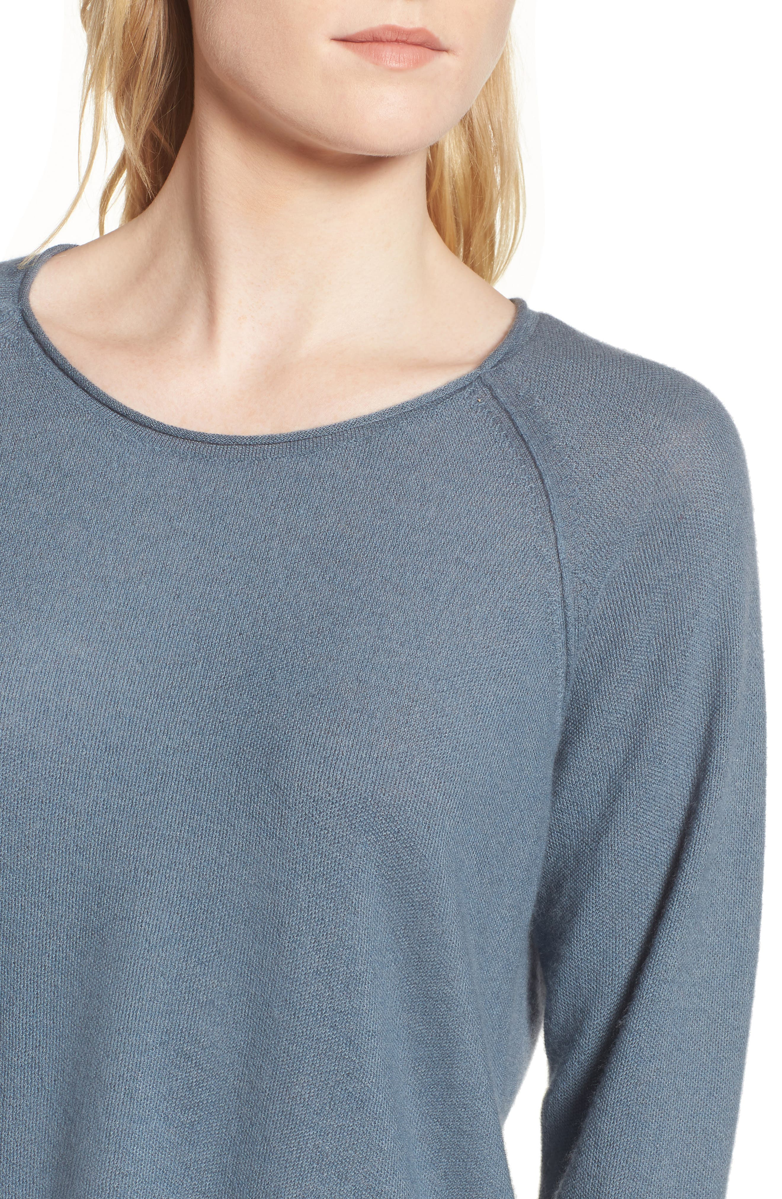 Cashmere Sweater,                             Alternate thumbnail 4, color,                             Heather Cruise