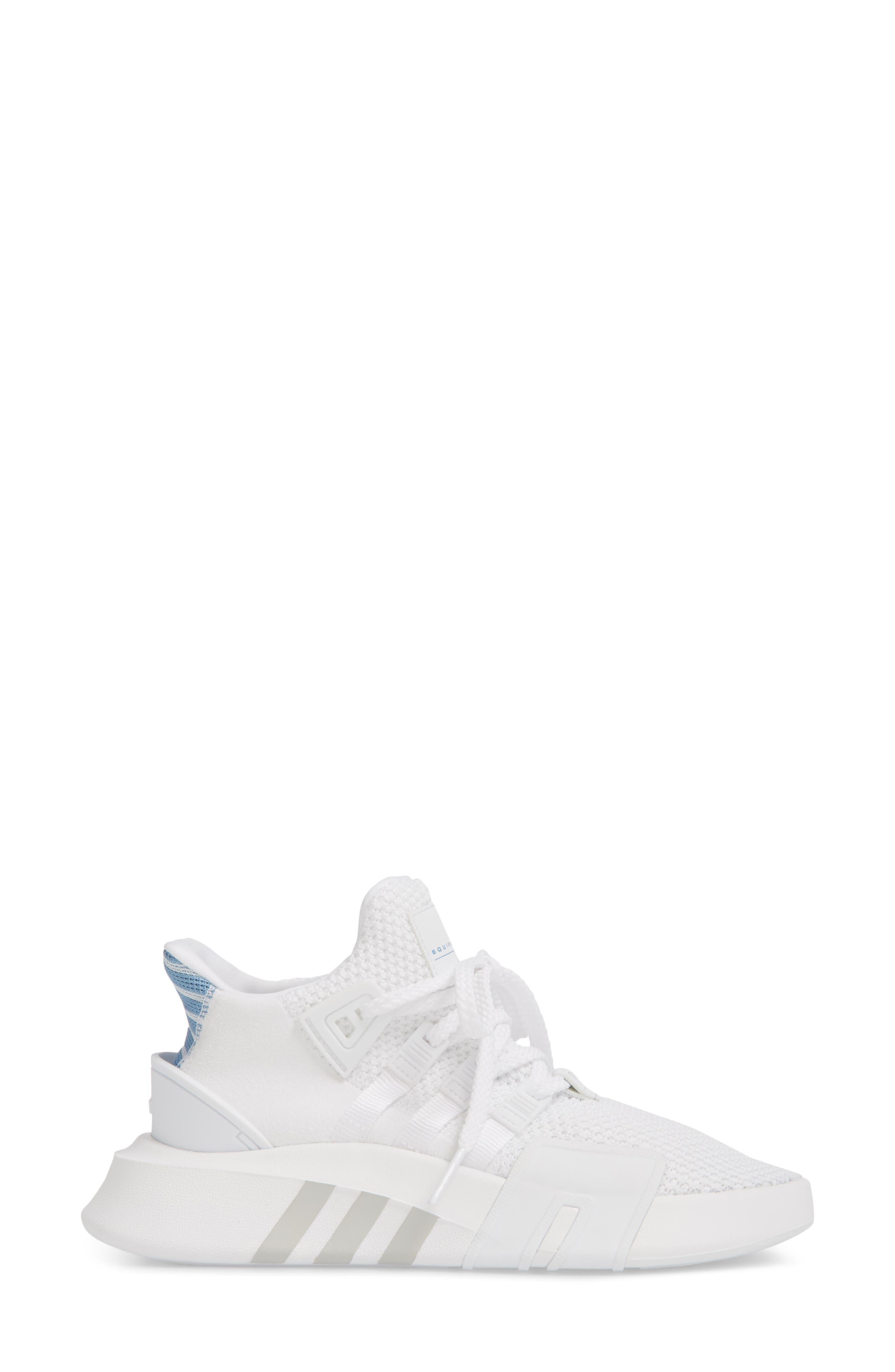 EQT Basketball ADV Sneaker,                             Alternate thumbnail 3, color,                             White/ White/ Ash Blue