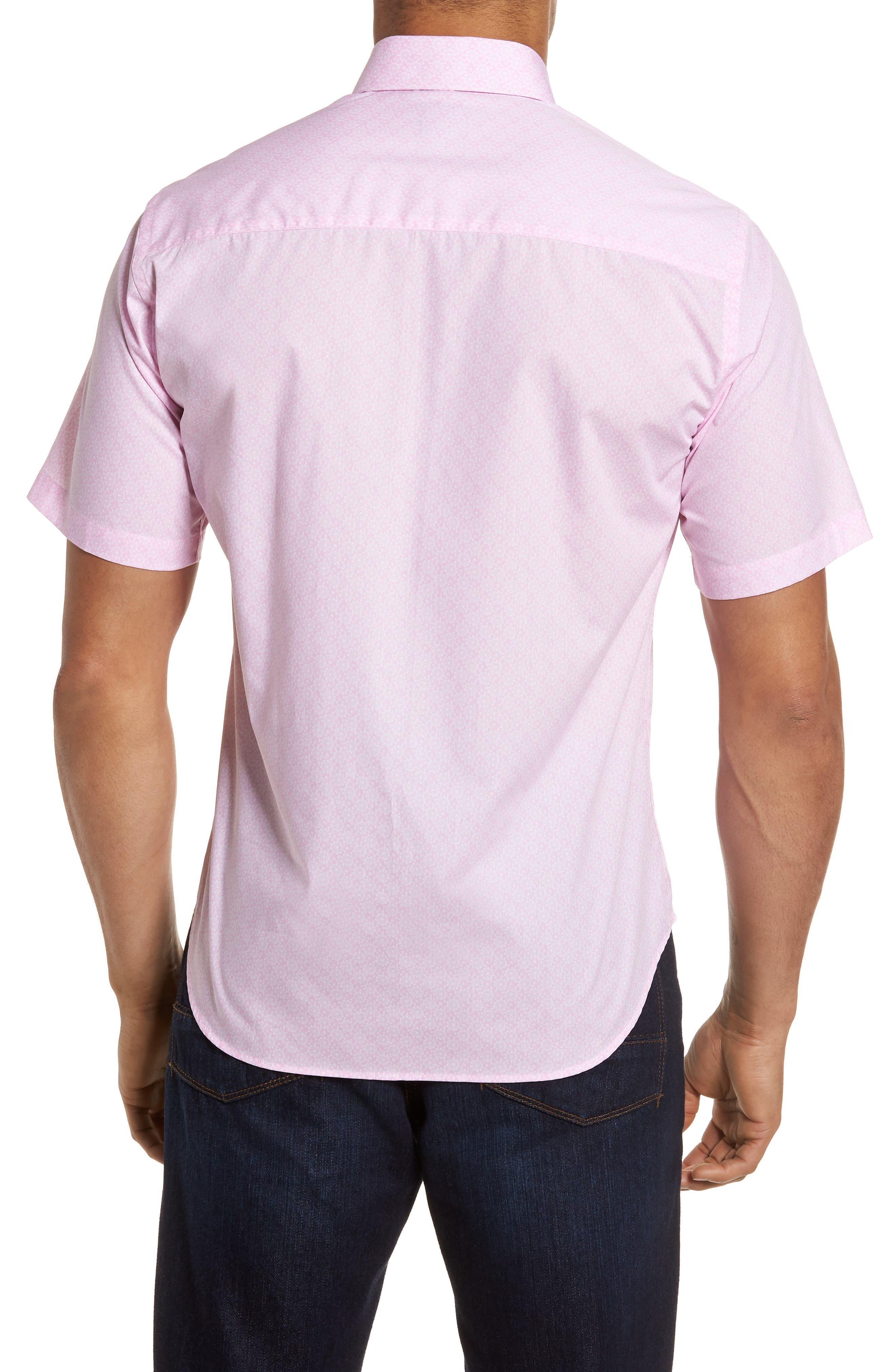 Napolean Regular Fit Medallion Sport Shirt,                             Alternate thumbnail 2, color,                             Pink