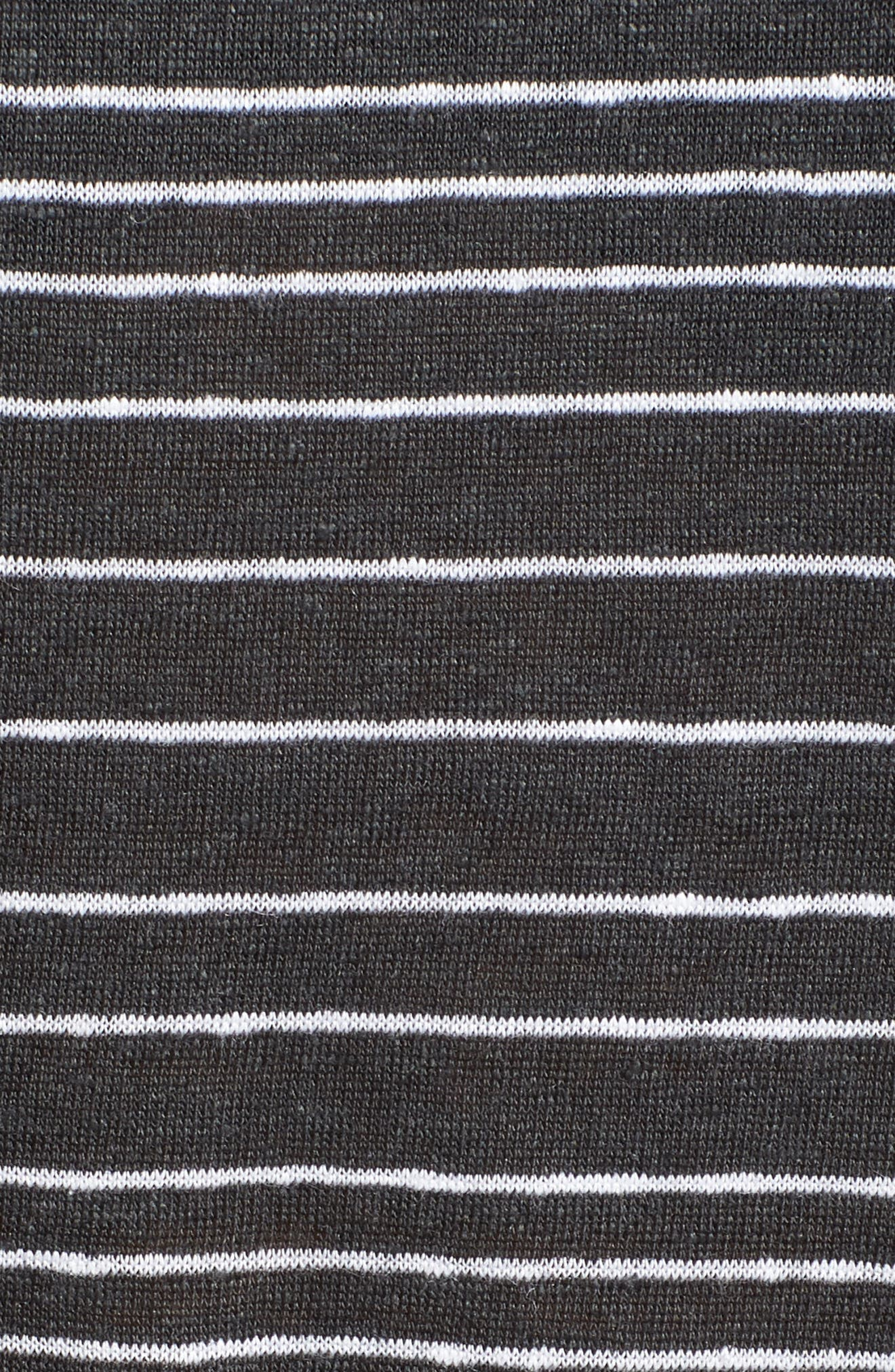 Stripe Organic Linen Top,                             Alternate thumbnail 6, color,                             Graphite