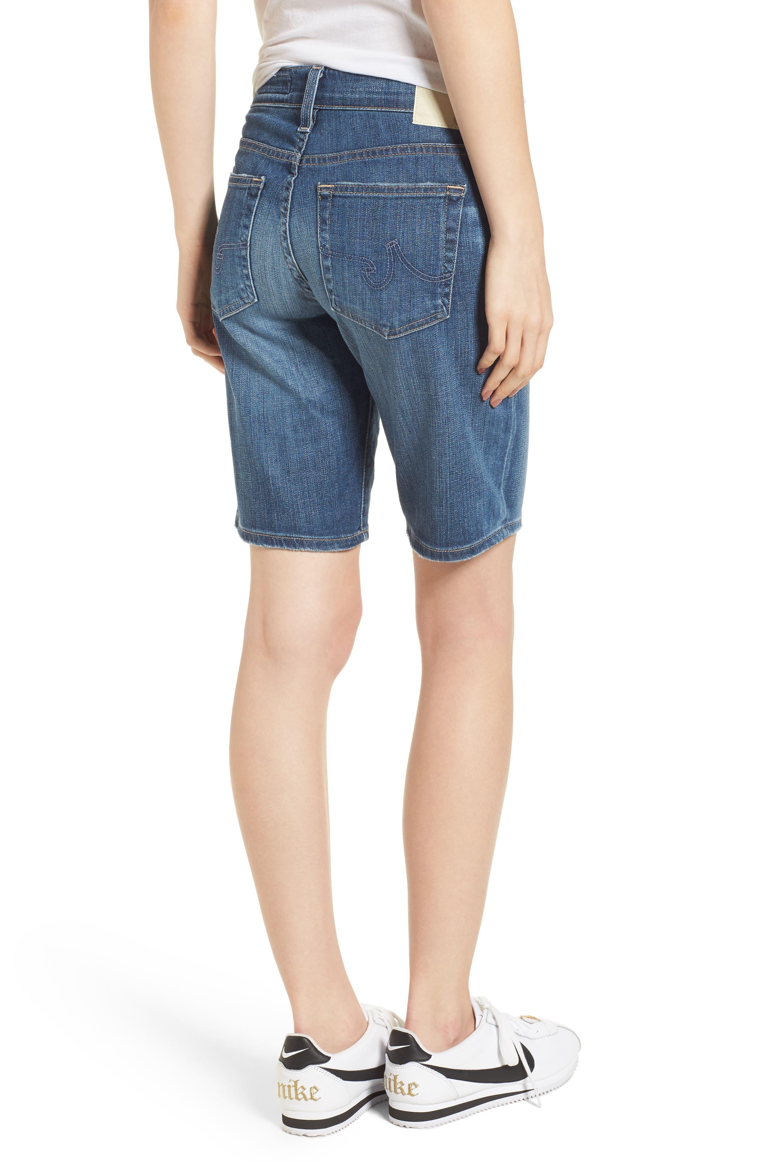 'Nikki' Distressed Denim Bermuda Shorts,                             Alternate thumbnail 2, color,                             11 Years Sapphire Sky