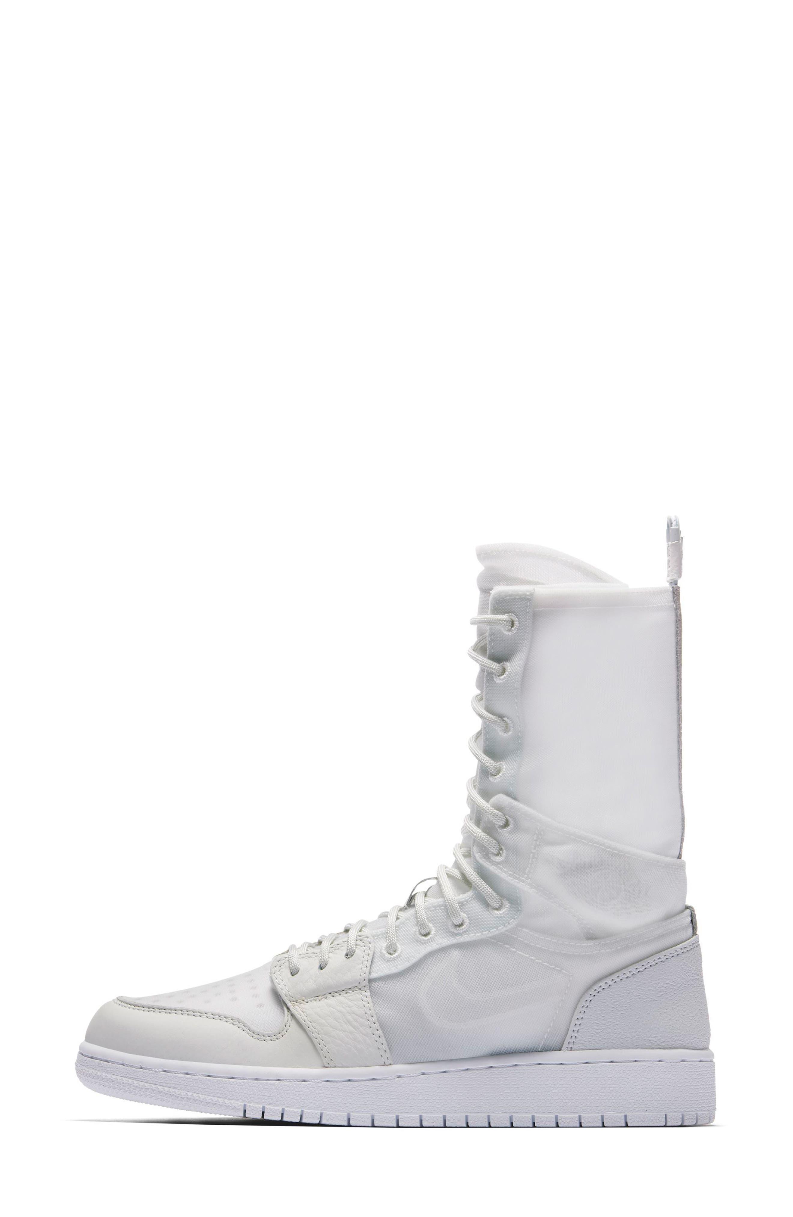 Air Jordan 1 Explorer XX Convertible High Top Sneaker,                             Alternate thumbnail 3, color,                             Off White/ Off White