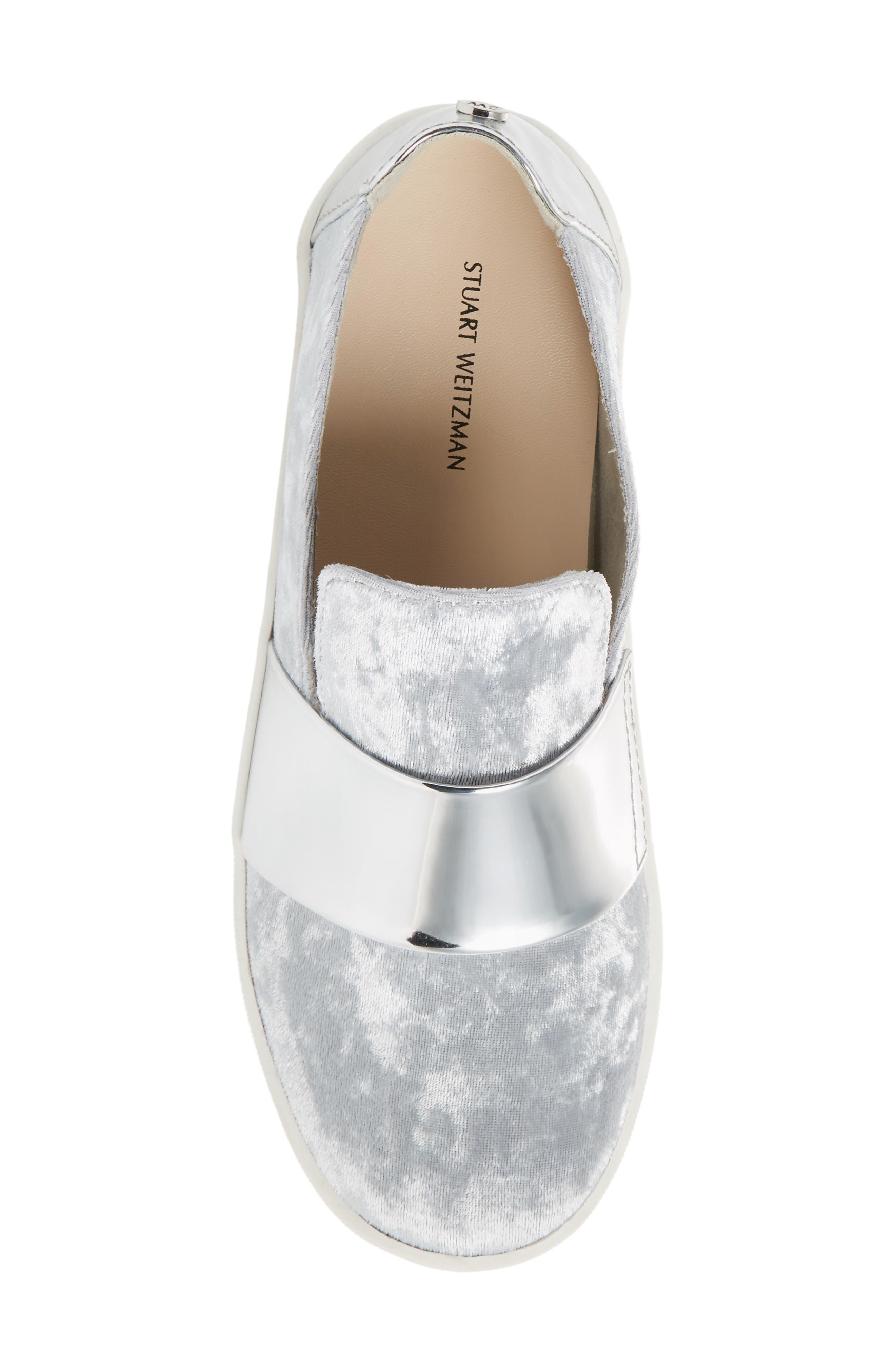 Vance Slip-On Sneaker,                             Alternate thumbnail 5, color,                             Silver