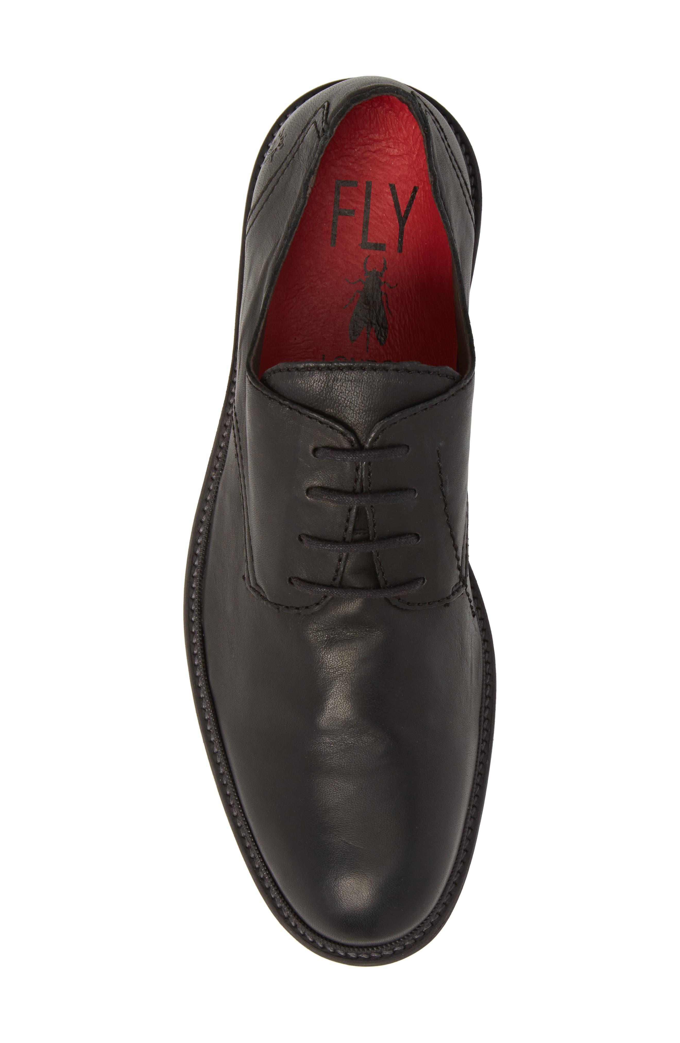 Hoco Plain Toe Derby,                             Alternate thumbnail 5, color,                             Black Leather